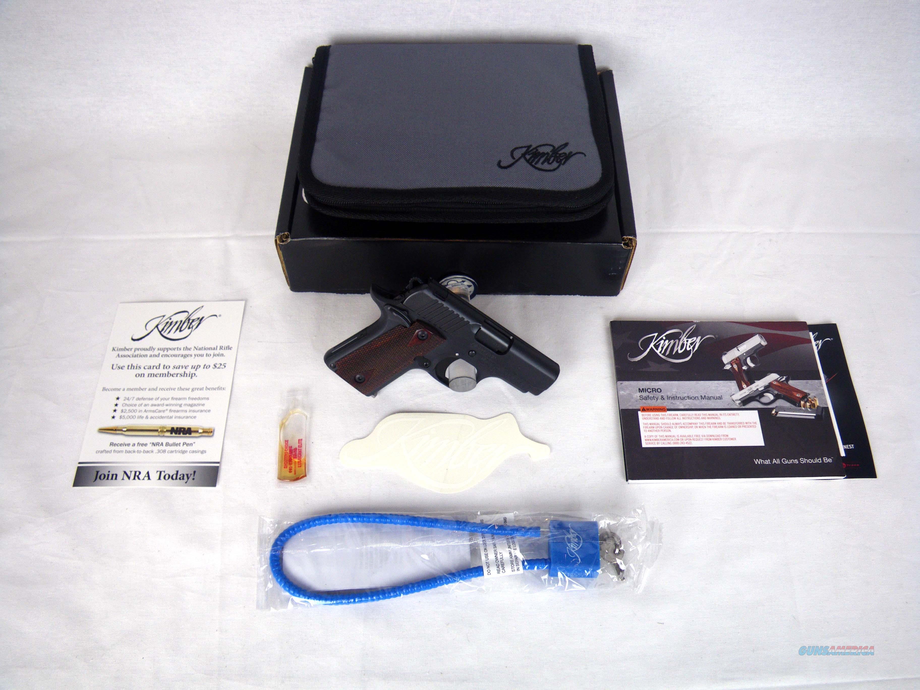 "Kimber Micro RCP 380 ACP 2.75"" NEW 3300093  Guns > Pistols > Kimber of America Pistols > Micro"