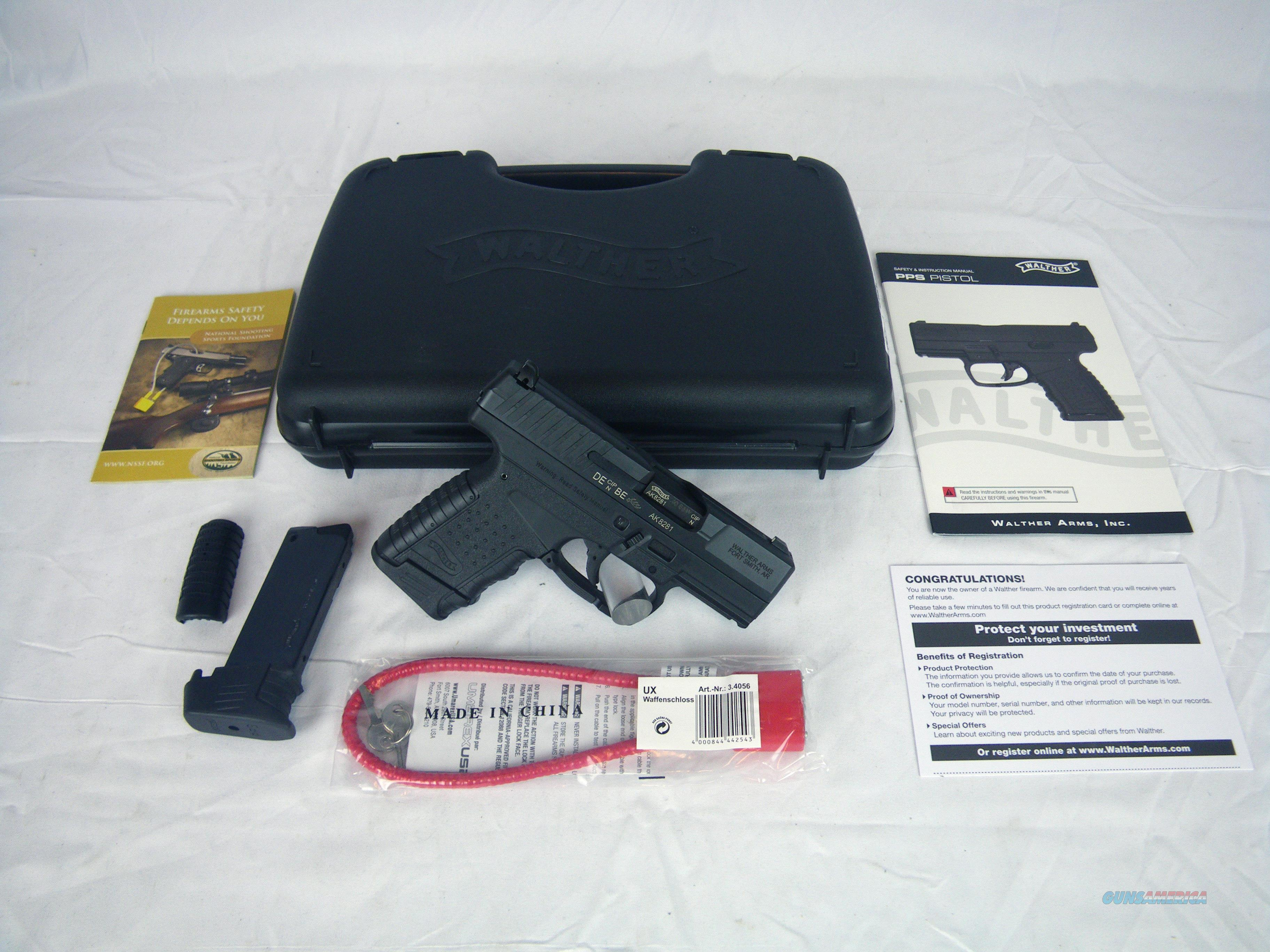 "Walther PPS 40 S&W 3.2"" Black NEW 6/7-Rnd #2796350  Guns > Pistols > Walther Pistols > Post WWII > PPS"