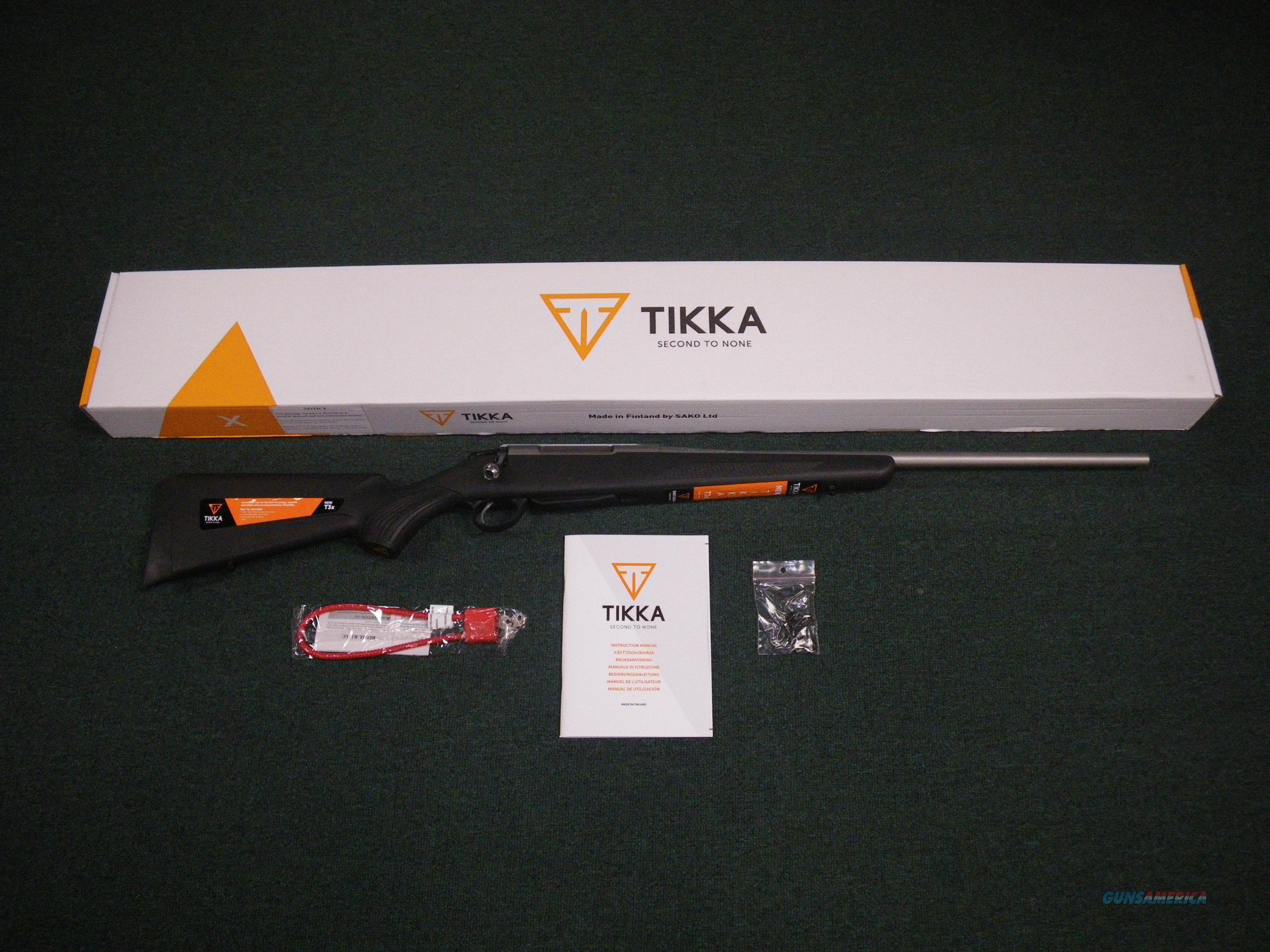 "Tikka T3x Lite Stainless/Synthetic 223 Rem 22.4"" NEW #JRTXB312  Guns > Rifles > Tikka Rifles > T3"