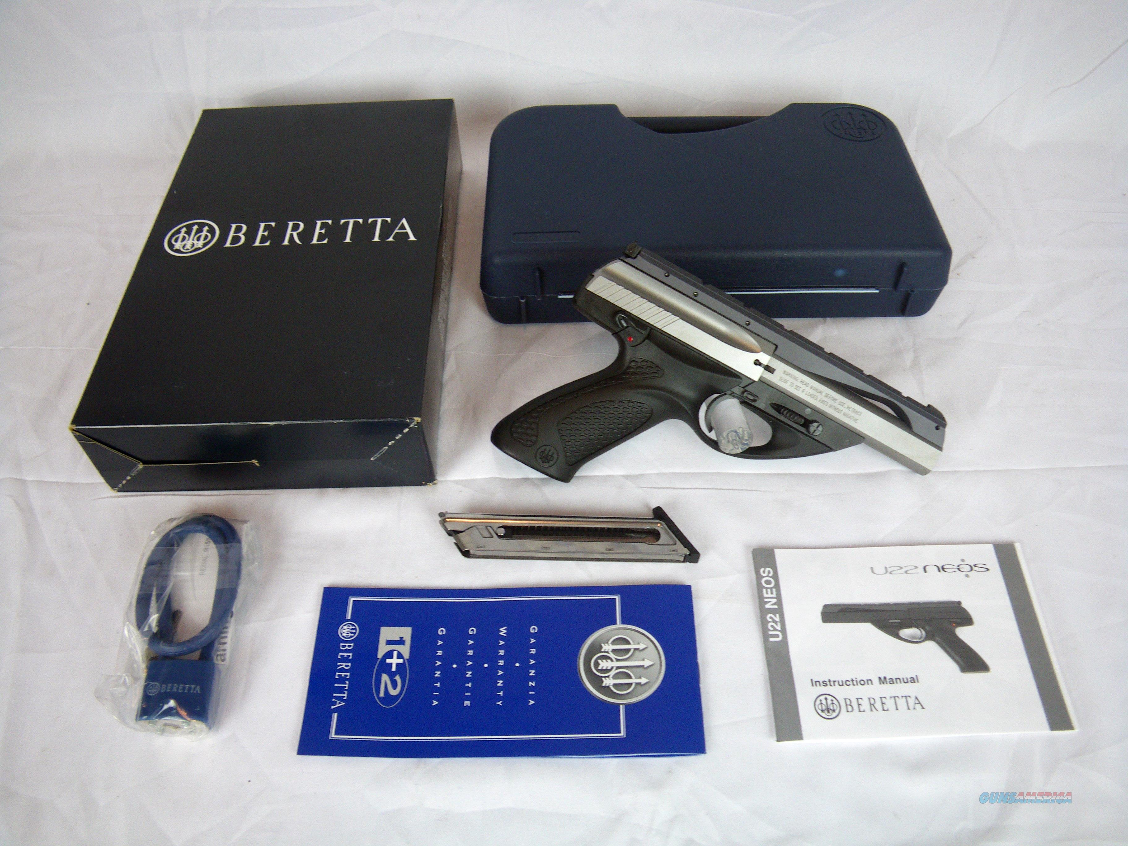 """Beretta U22 Neos Inox 22lr 4.5"""" Target Pistol NIB #JU2S45X  Guns > Pistols > Beretta Pistols > Small Caliber Tip Out"""