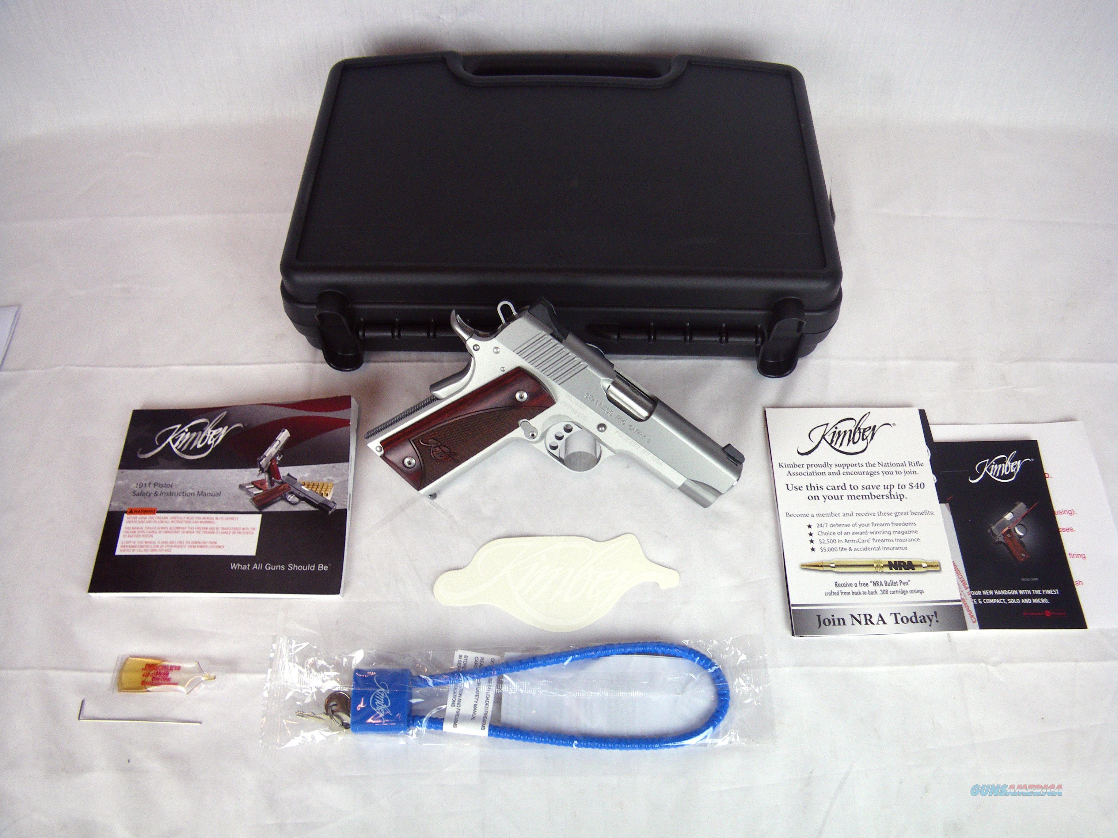 "Kimber Stainless Pro Carry II 9mm 4"" NEW #3200323  Guns > Pistols > Kimber of America Pistols > 1911"