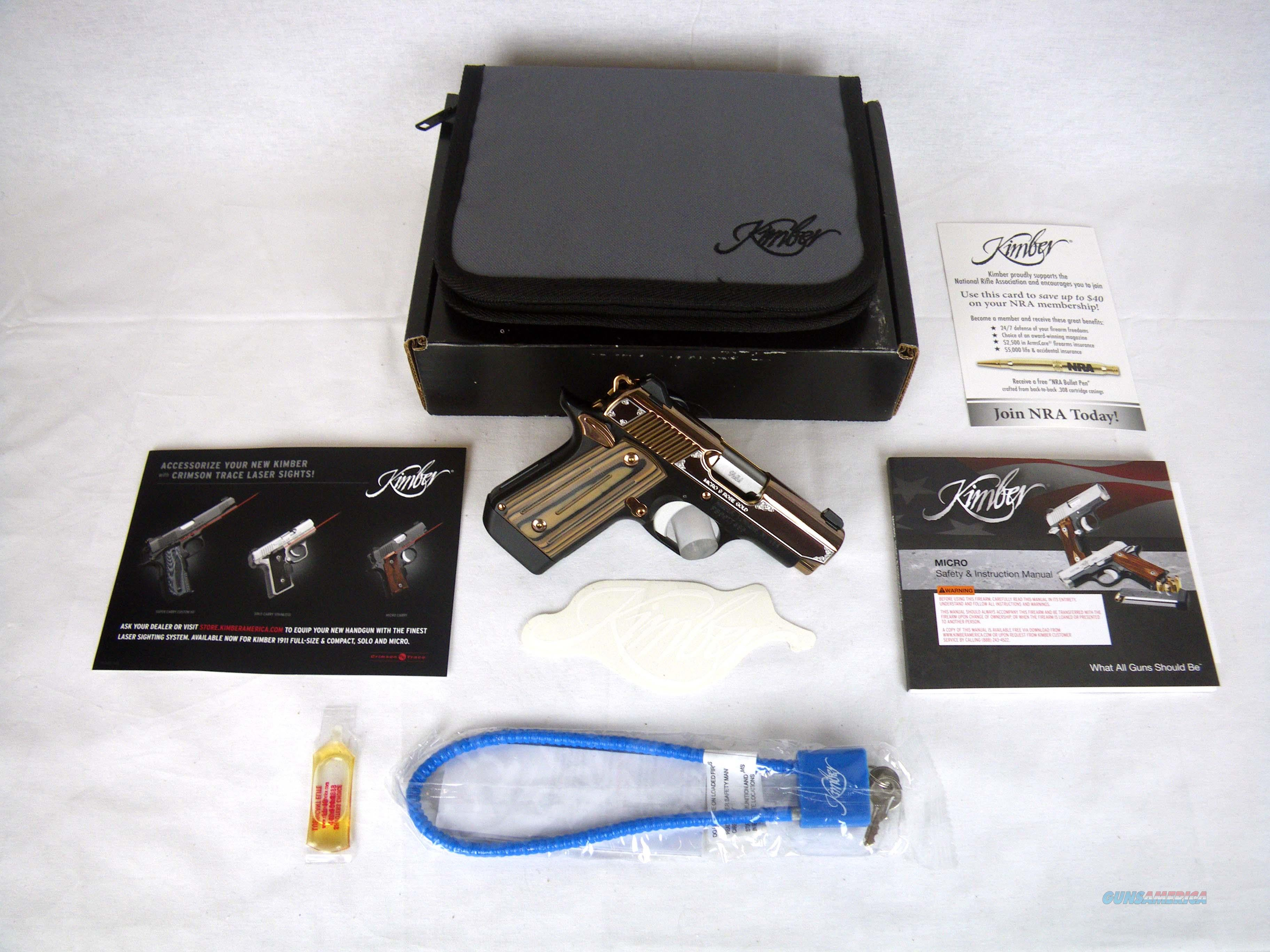 "Kimber Micro 9 Rose Gold 9mm 3.15"" NEW 3300174  Guns > Pistols > Kimber of America Pistols > Micro 9"