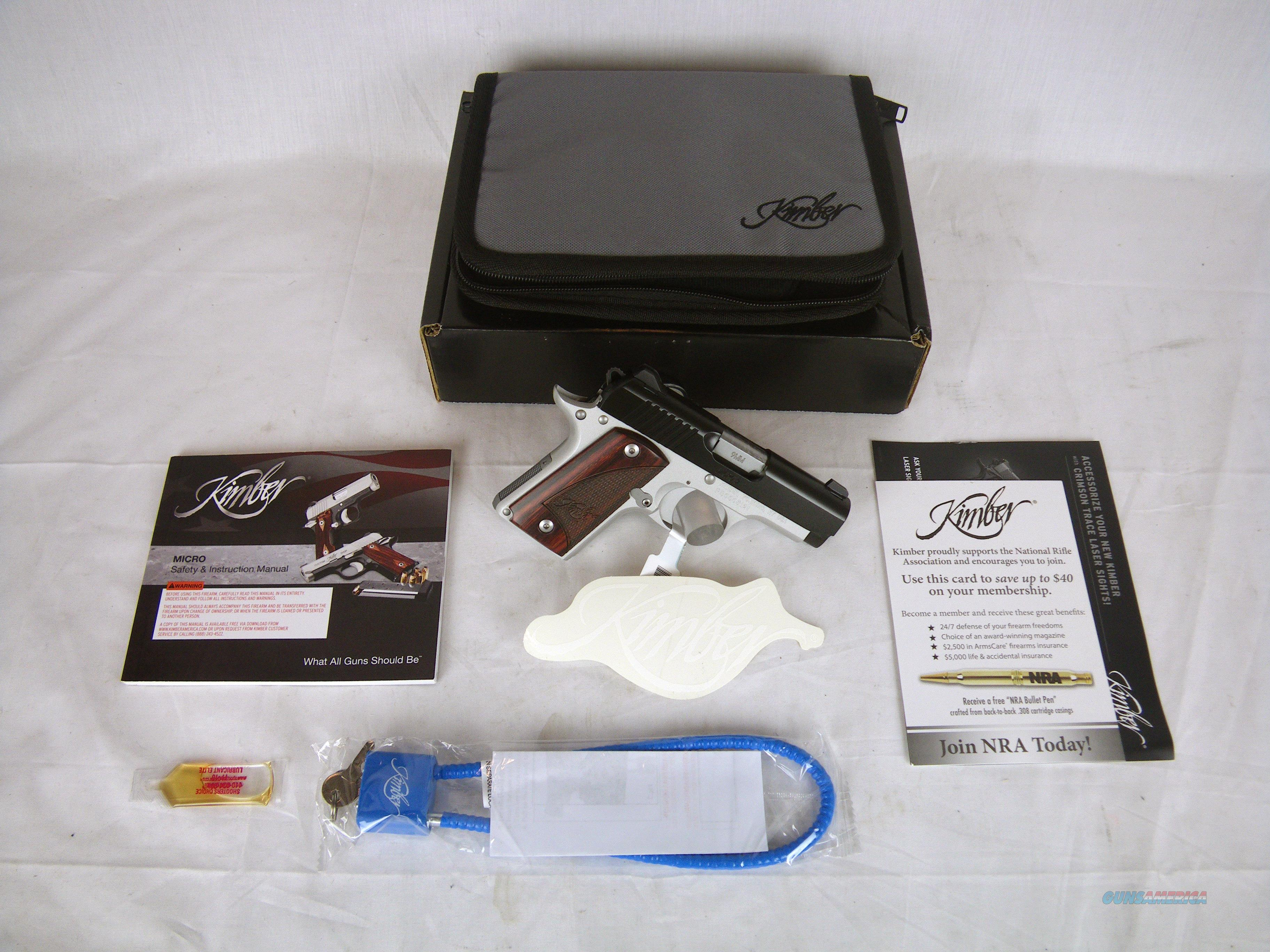"Kimber Micro 9 Two-Tone 9mm 3.15"" NEW Rosewood #3300099  Guns > Pistols > Kimber of America Pistols > Micro 9"