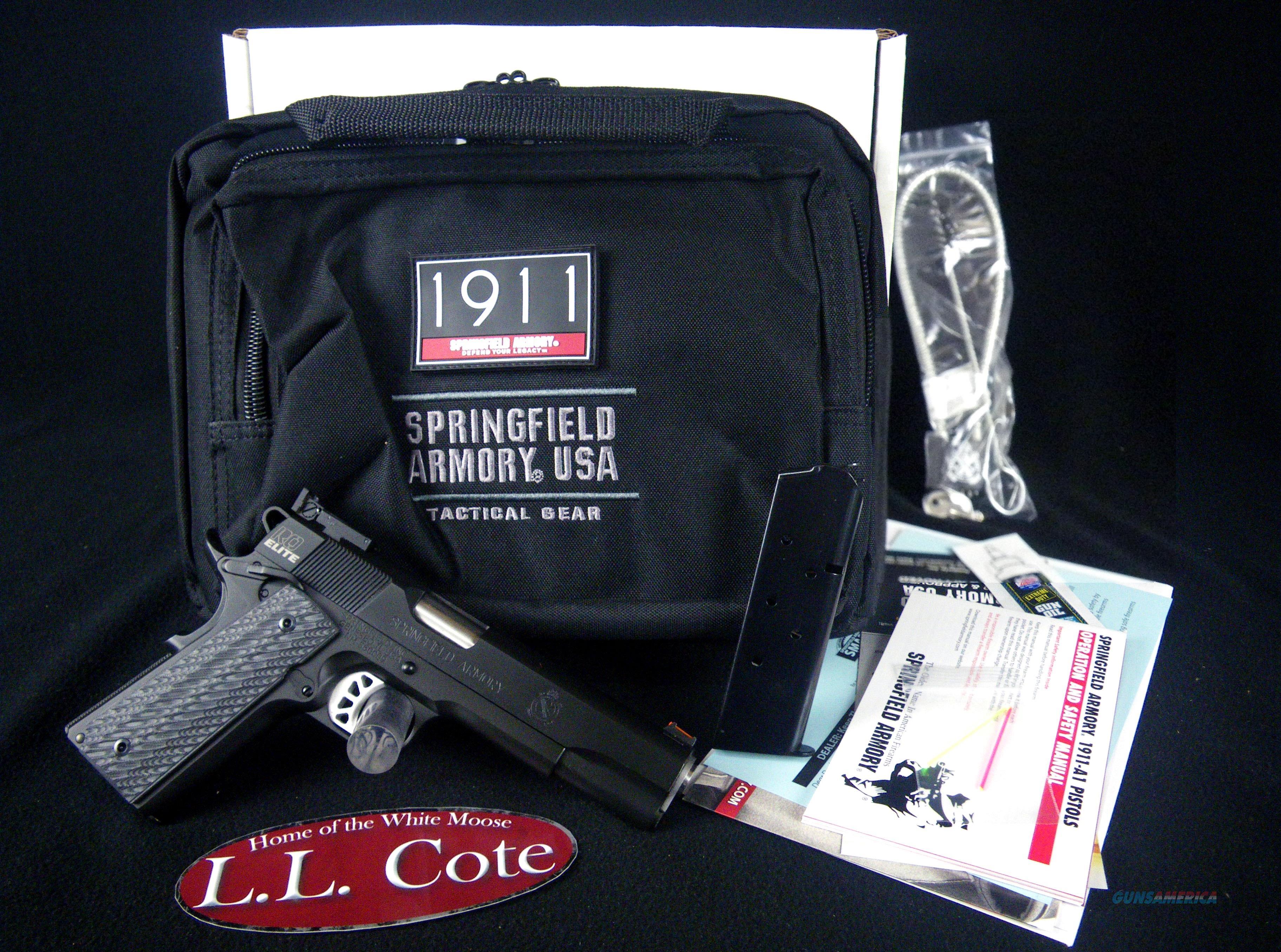 "Springfield 1911 RO Elite Target G-10 45ACP 5"" NEW PI9128E  Guns > Pistols > Springfield Armory Pistols > 1911 Type"