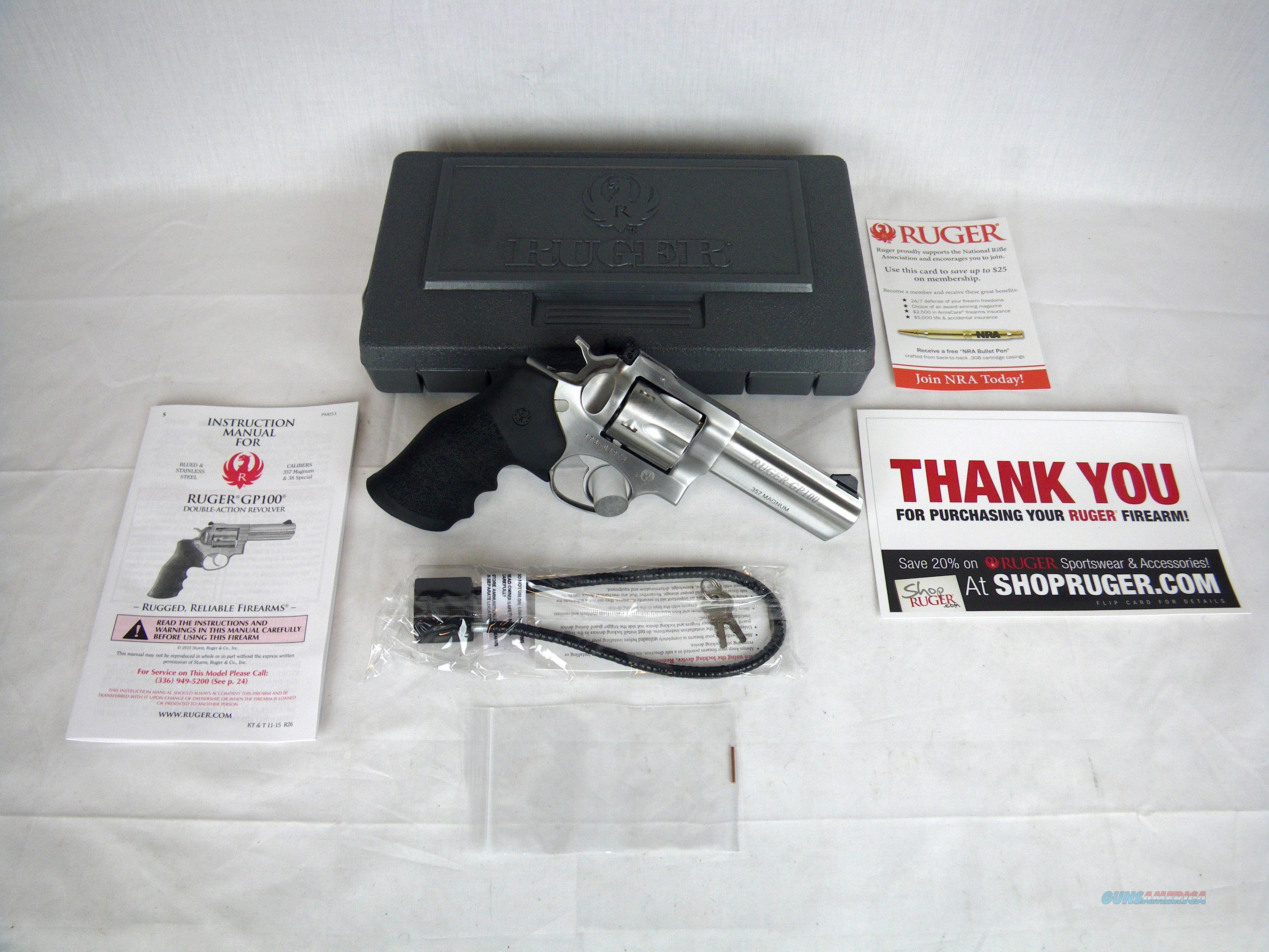 """Ruger GP100 357 Mag 4.2"""" Hogue Monogrip NEW #1705  Guns > Pistols > Ruger Double Action Revolver > GP100"""