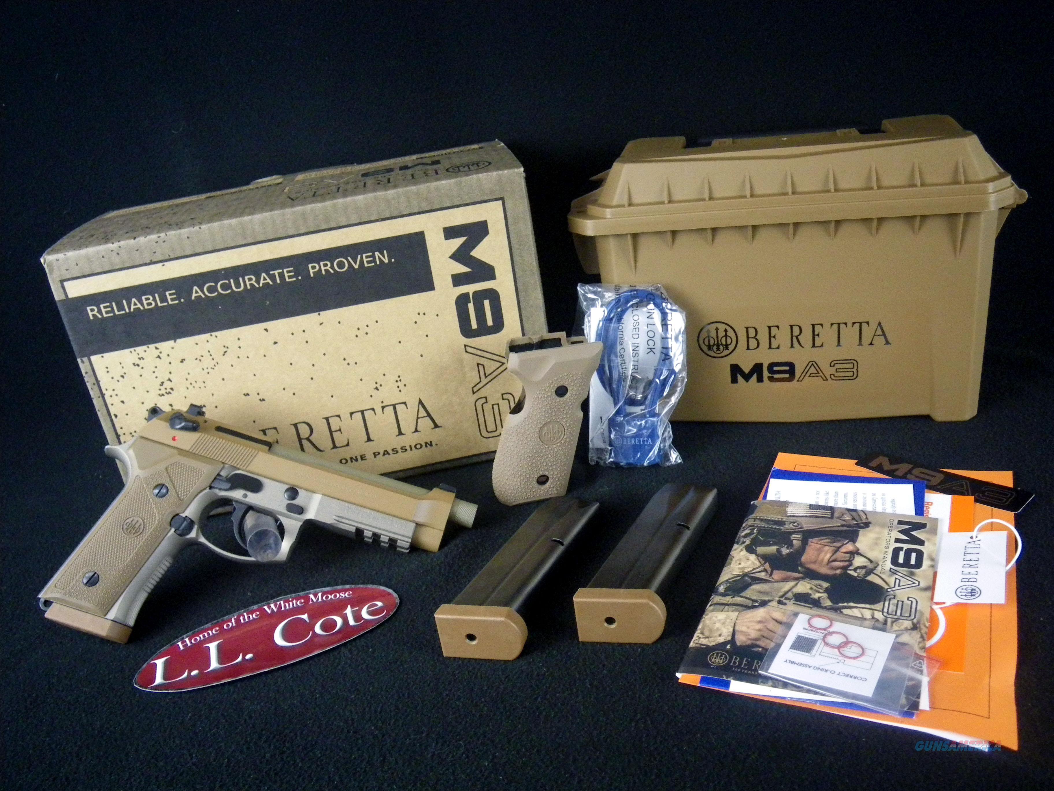"Beretta M9A3 Type F FDE 9mm 5"" NEW J92M9A3M  Guns > Pistols > Beretta Revolvers"