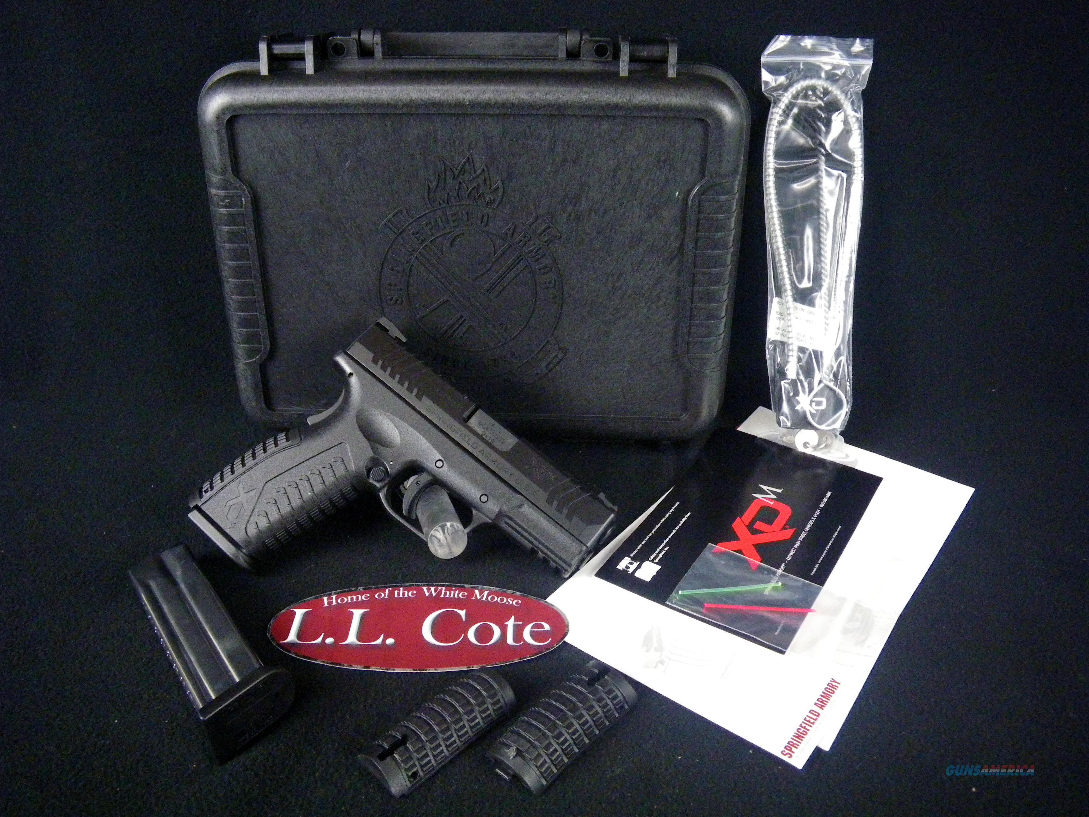 "Springfield XDM Full Size Black Poly 9mm 3.8"" NEW XDM9389BHCE  Guns > Pistols > Springfield Armory Pistols > XD-M"