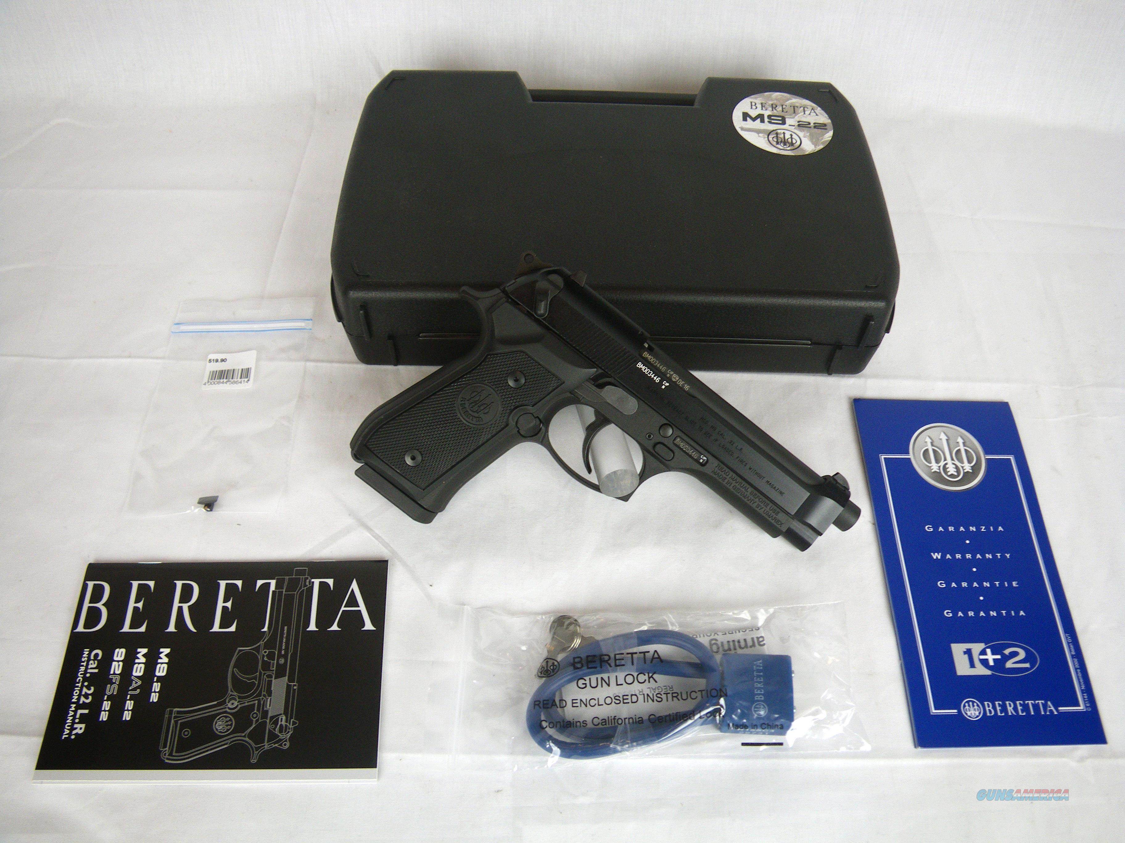 """Beretta M9-22LR 15 Round 4.9"""" NEW #J90A1M9F19  Guns > Pistols > Beretta Pistols > M9"""