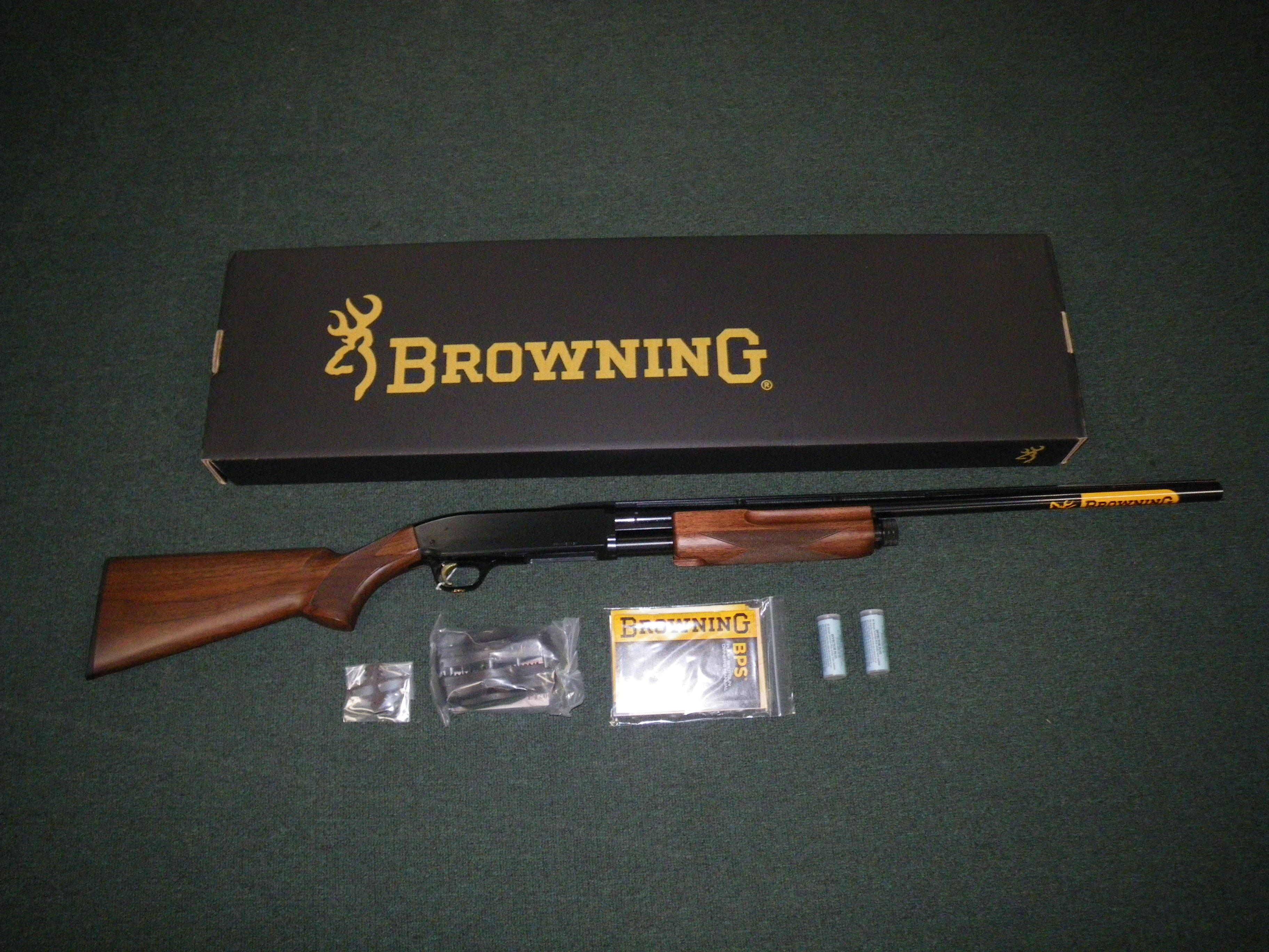 "Browning BPS Hunter 12ga 28"" 3"" Chamber Wood/Blue #012211304  Guns > Shotguns > Browning Shotguns > Pump Action > Hunting"