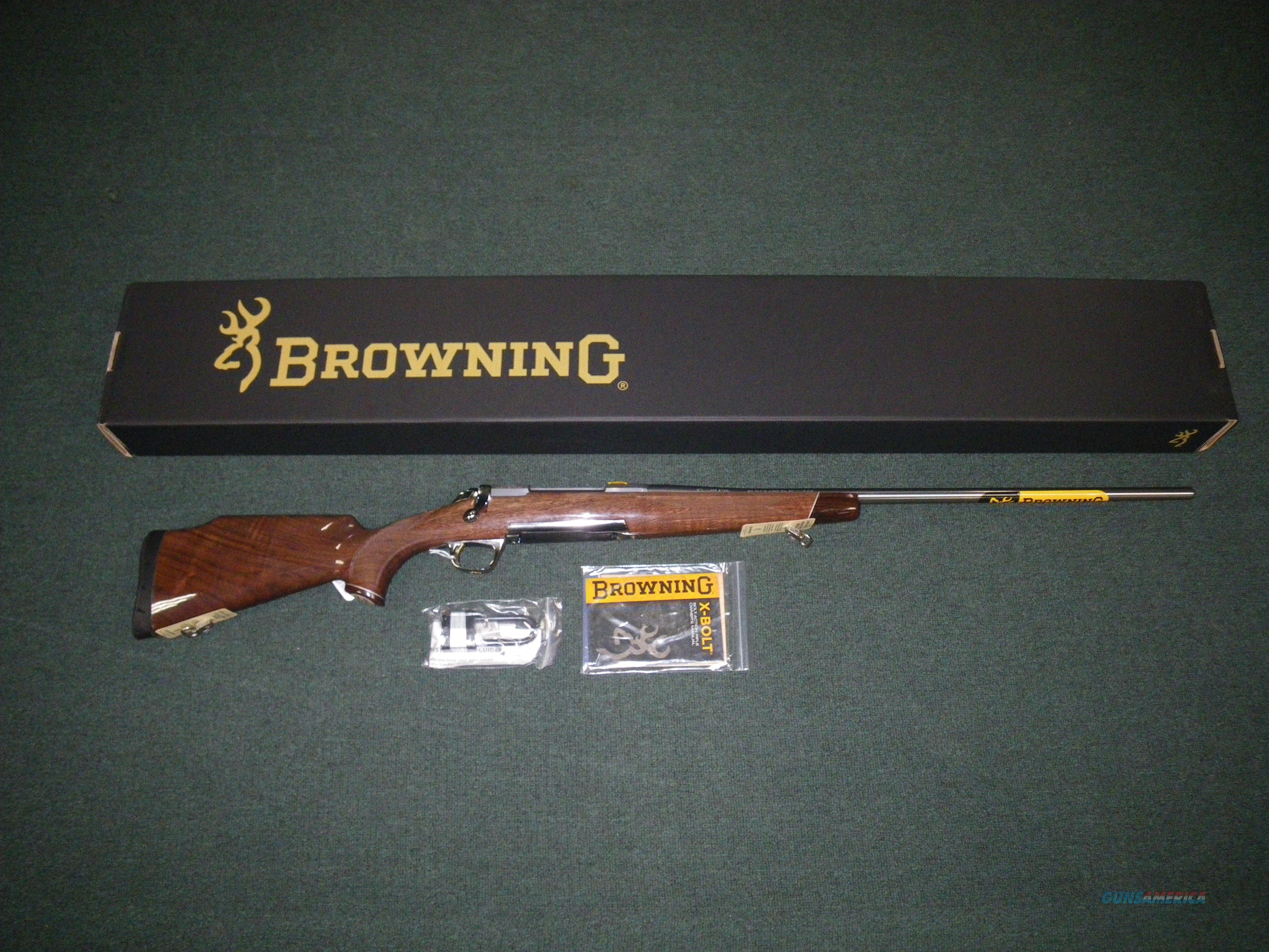 "Browning X-Bolt White Gold RMEF 300 WinMag 26"" NEW #035217229  Guns > Rifles > Browning Rifles > Bolt Action > Hunting > Stainless"