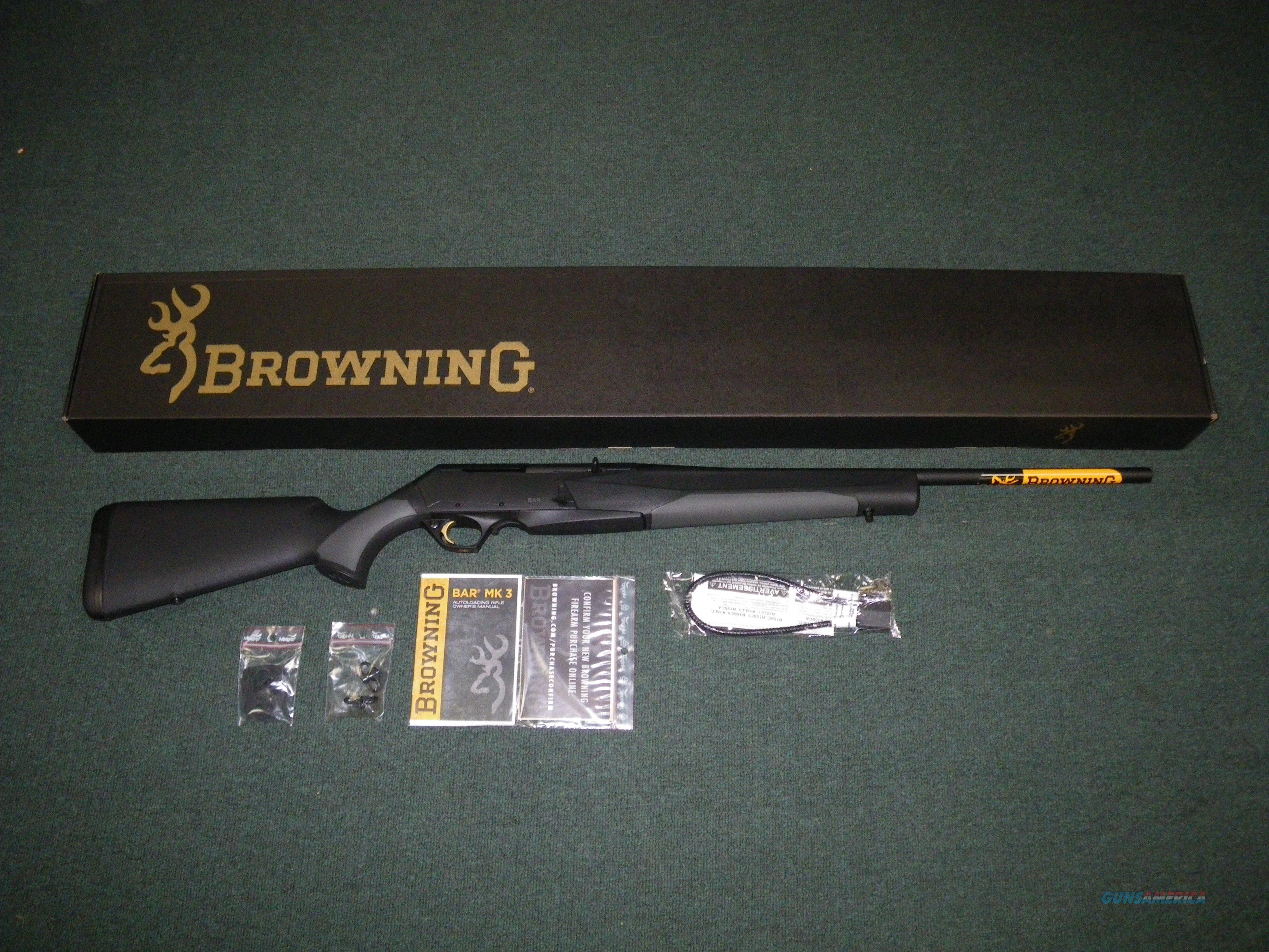 "Browning BAR MK3 Stalker Synthetic 7mm-08 Rem 22"" NEW 031048216  Guns > Rifles > Browning Rifles > Semi Auto > Hunting"
