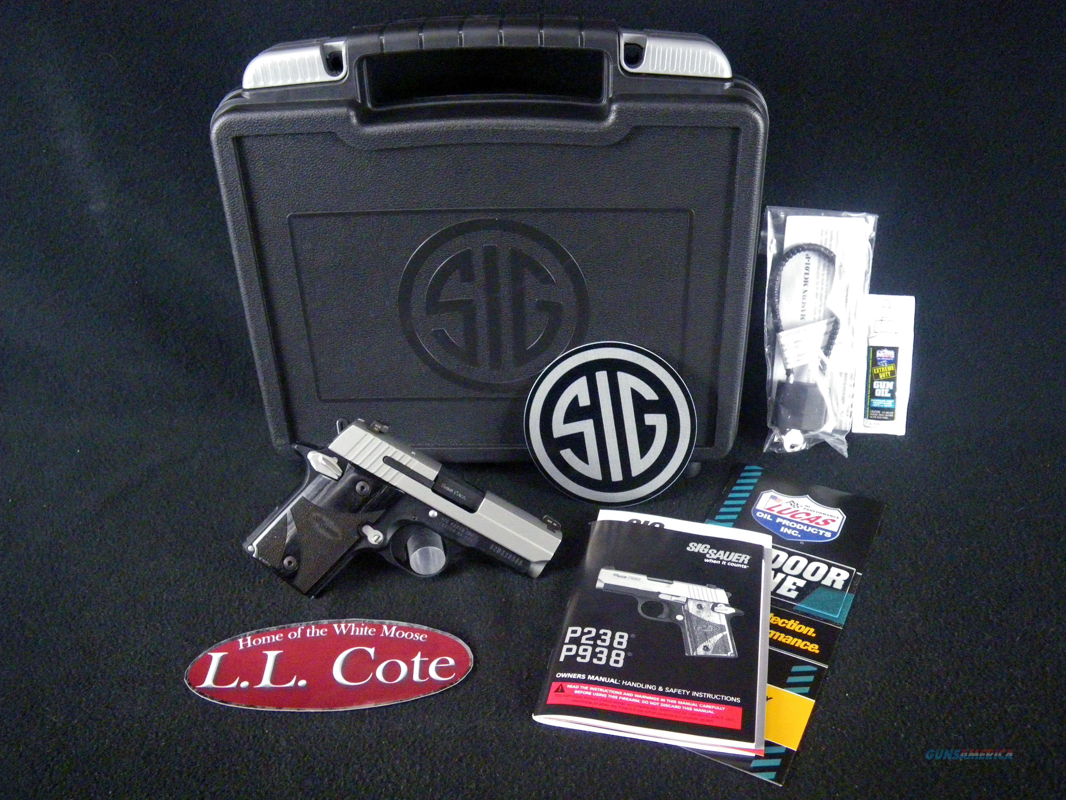 "Sig Sauer P938 Blackwood Micro-Compact 9mm 3"" NEW 938-9-BG-AMBI  Guns > Pistols > Sig - Sauer/Sigarms Pistols > P938"