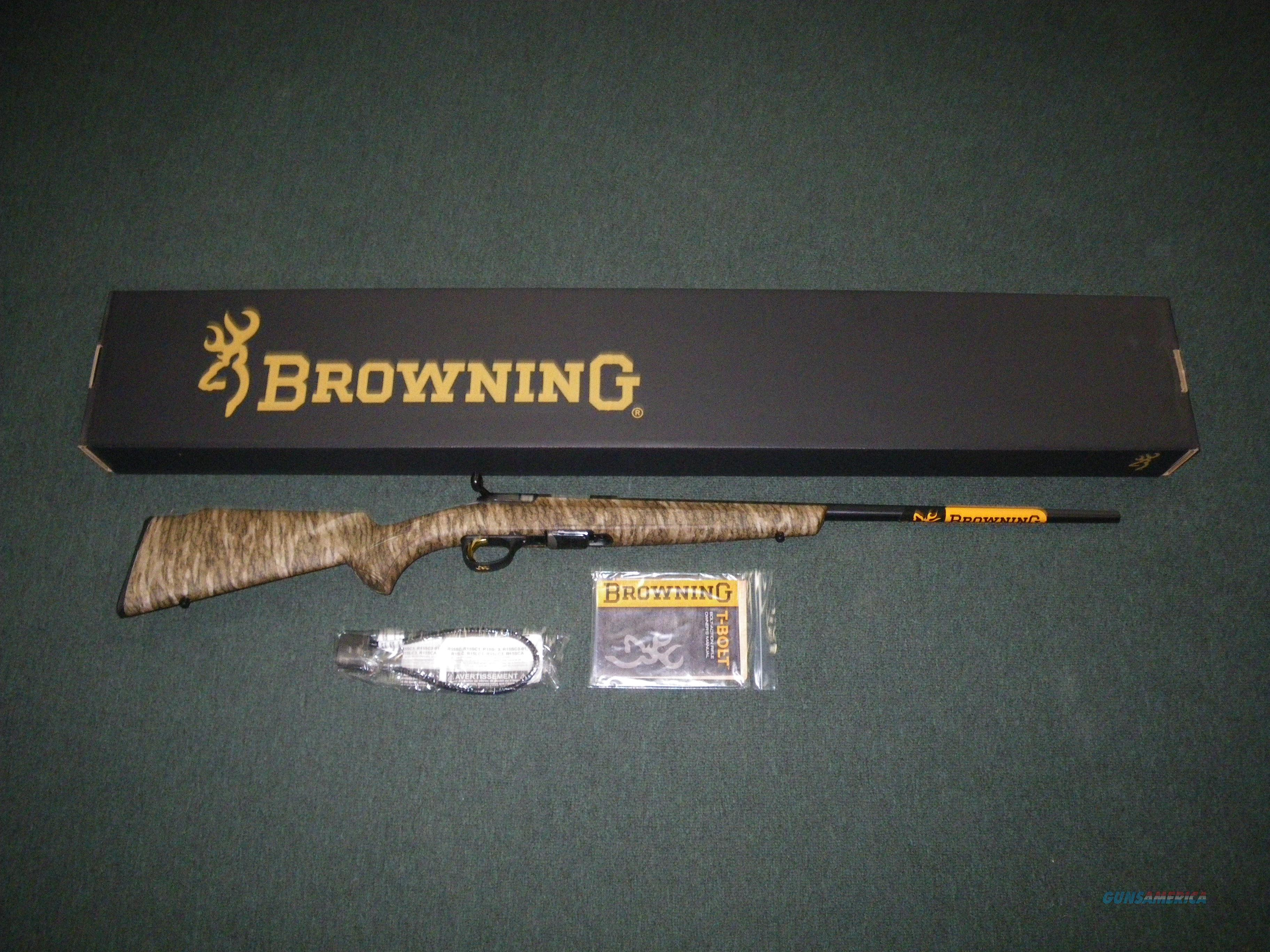 "Browning T-Bolt Mossy Oak Bottomland 22LR 22"" NEW #025228202  Guns > Rifles > Browning Rifles > Bolt Action > Hunting > Blue"