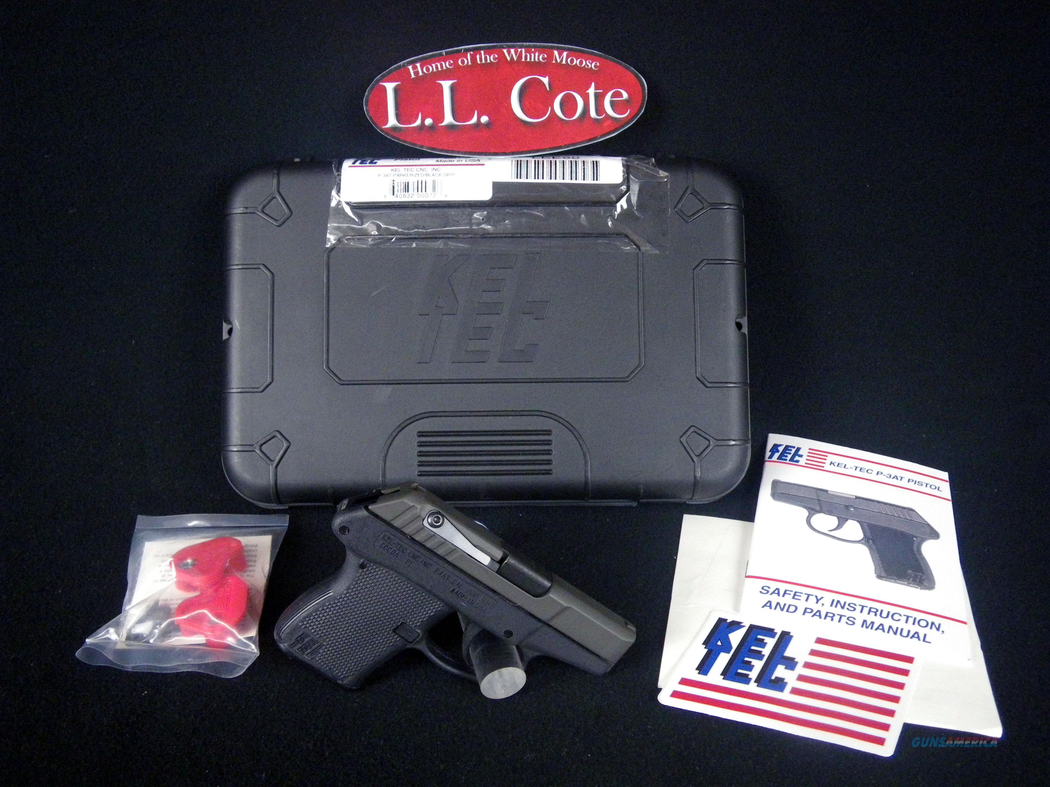 "Kel-Tec P-3AT 380ACP 2.75"" NEW Parkerized P3ATPKBLK  Guns > Pistols > Kel-Tec Pistols > Pocket Pistol Type"
