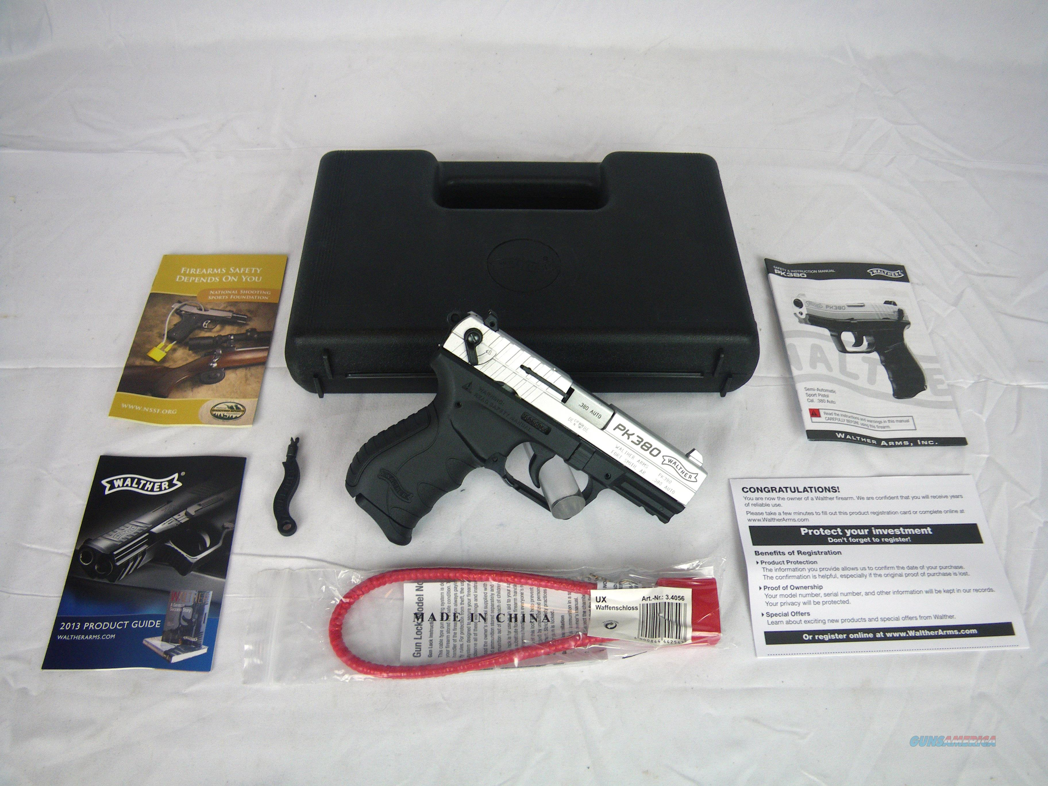 """Walther PK380 380 ACP Nickel 3.66"""" NEW #5050309  Guns > Pistols > Walther Pistols > Post WWII > PK380"""