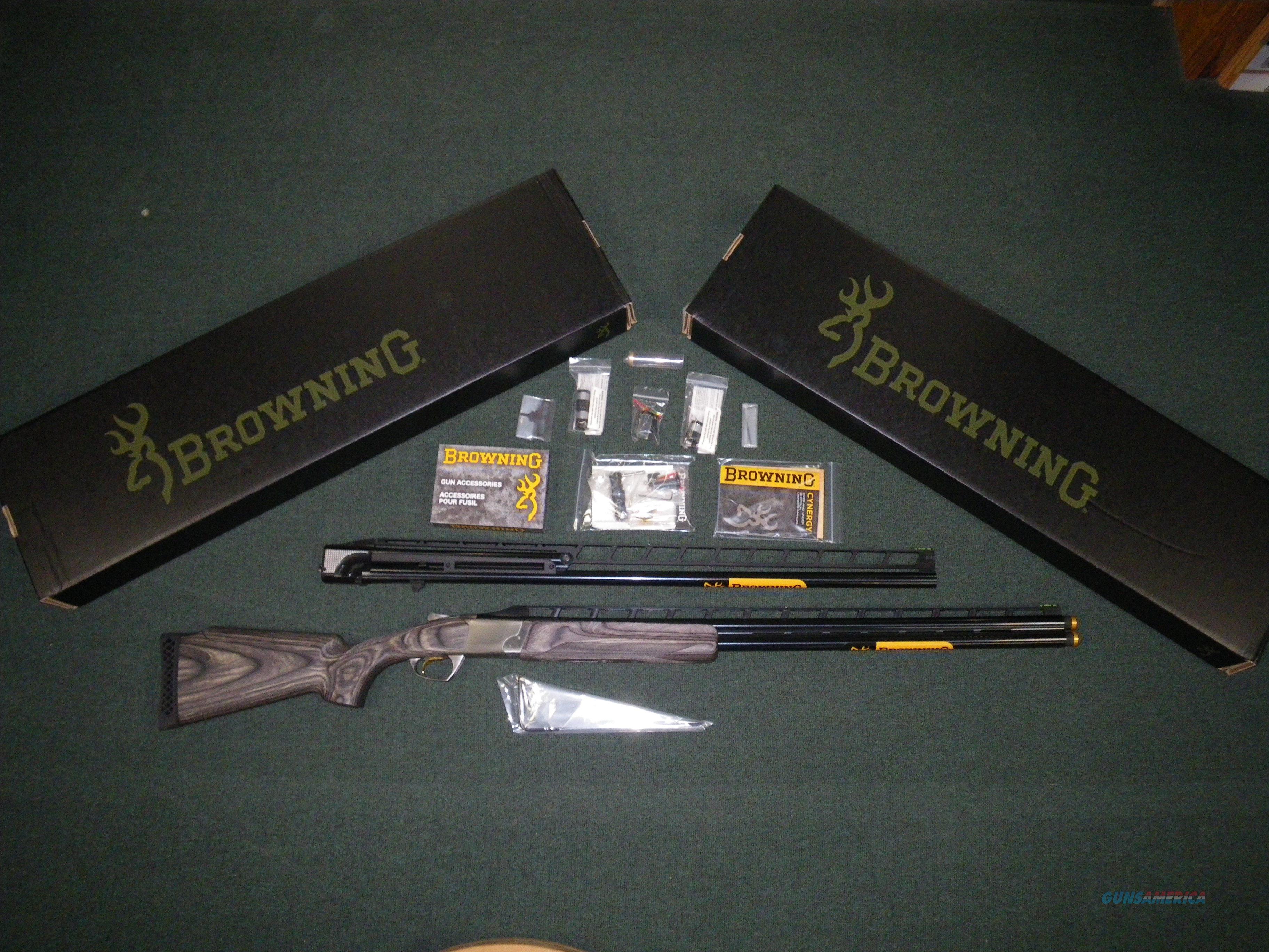"Browning Cynergy Trap Unsingle Combo 12ga 32""/34"" #018707479  Guns > Shotguns > Browning Shotguns > Over Unders > Cynergy > Hunting"