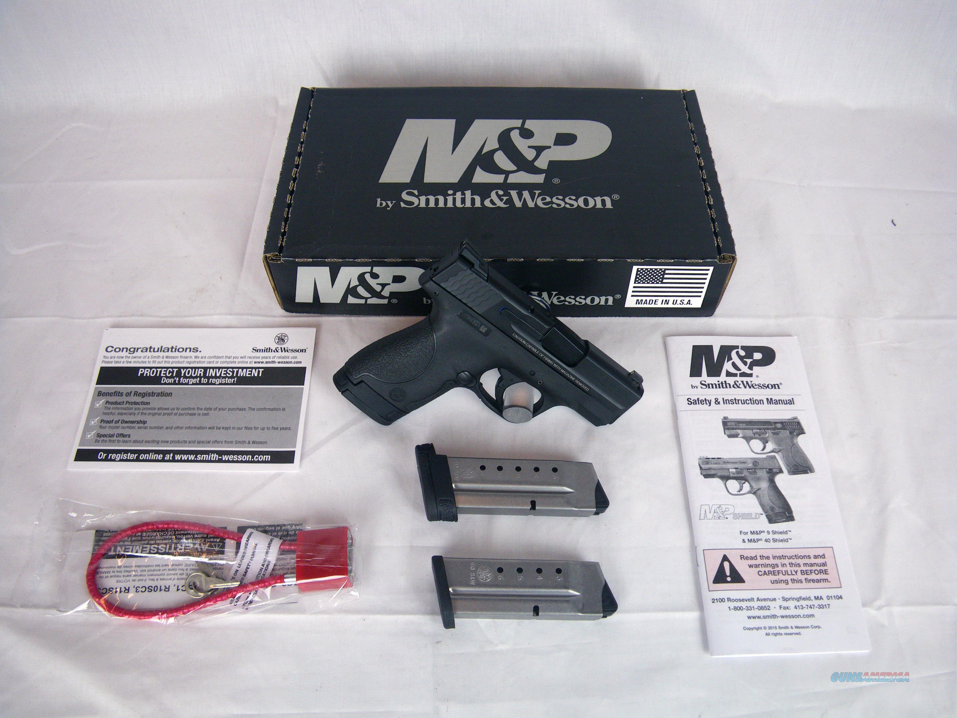 "Smith & Wesson M&P40 Shield Night Sights 40 S&W 3"" #10214  Guns > Pistols > Smith & Wesson Pistols - Autos > Polymer Frame"