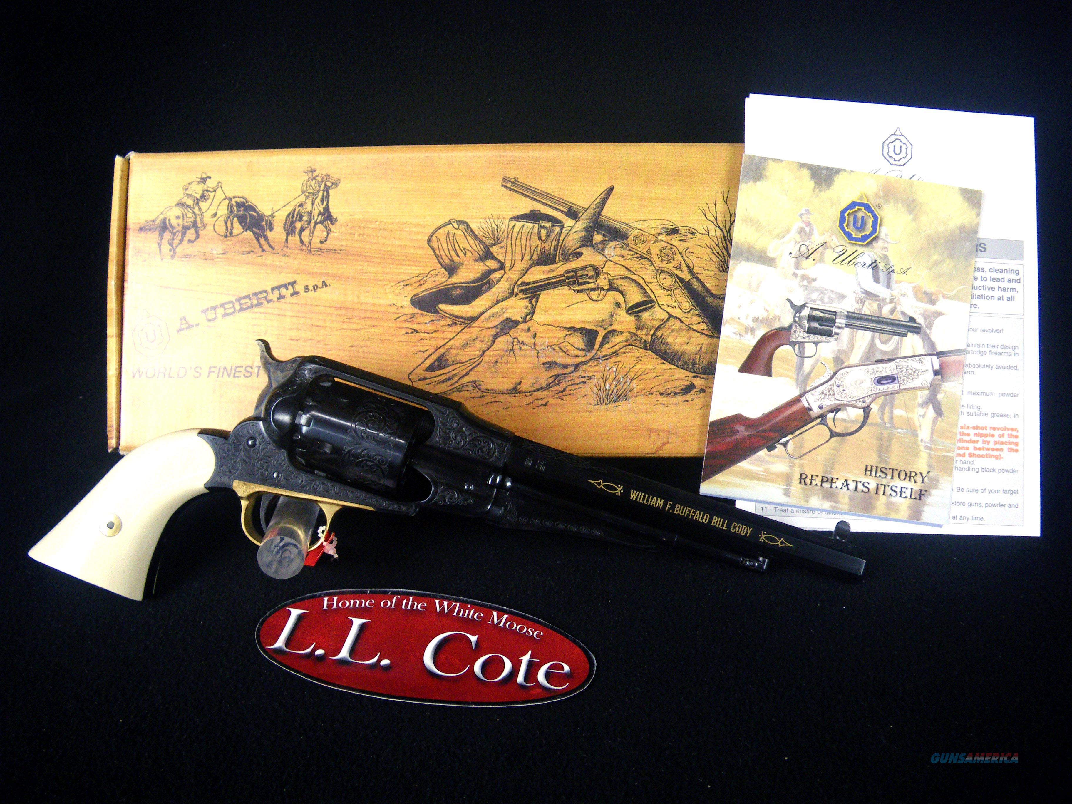"Uberti 1858 Buffalo Bill Centennial 44cal 8"" NEW 3410BB  Guns > Pistols > Uberti Pistols > Percussion"