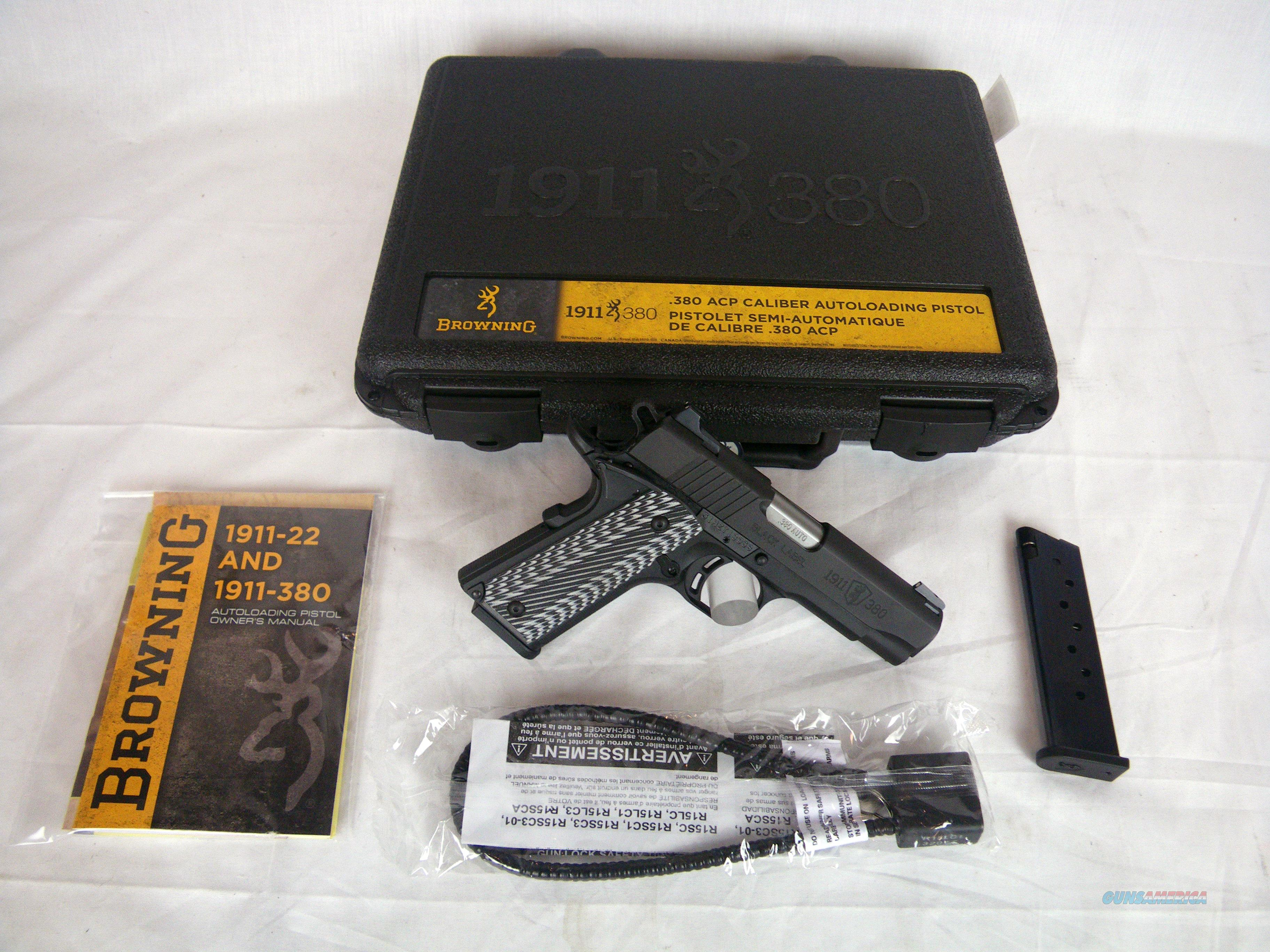 Browning 1911-380 Black Label Pro Compact 380 ACP #051908492  Guns > Pistols > Browning Pistols > Other Autos