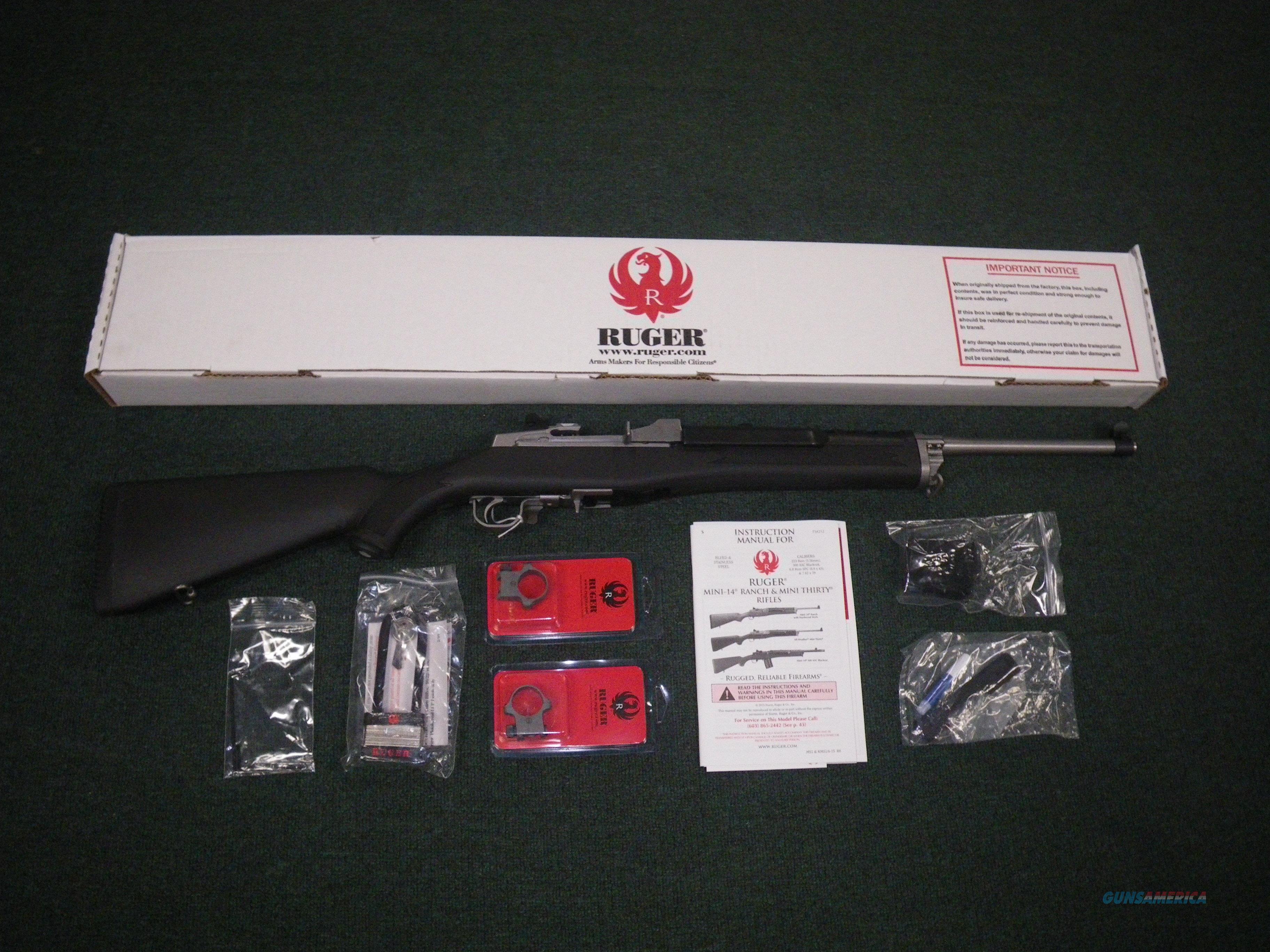 "Ruger Mini-30 Mini Thirty 7.62x39 18.5"" NEW #5806  Guns > Rifles > Ruger Rifles > Mini-14 Type"