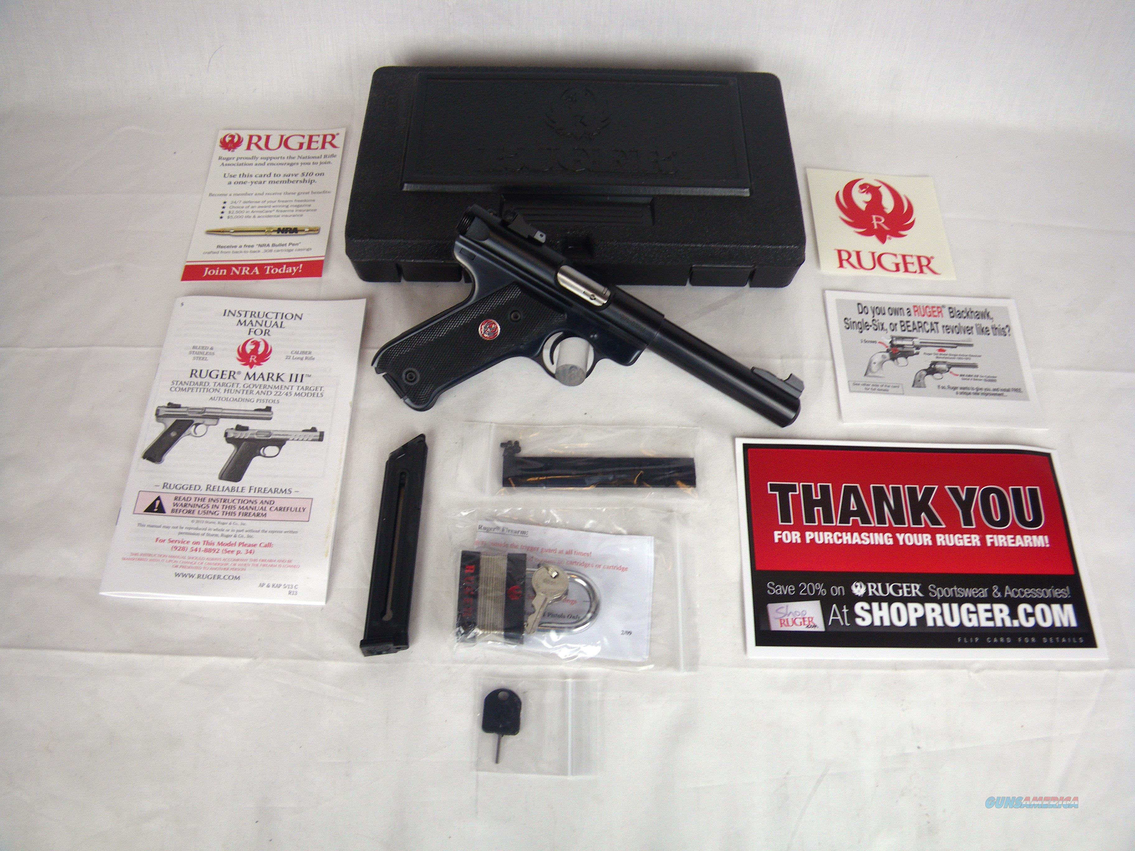 "Ruger Mark III Target 22lr 5.5"" Bull Barrel NEW 10101  Guns > Pistols > Ruger Semi-Auto Pistols > Mark I/II/III/IV Family"