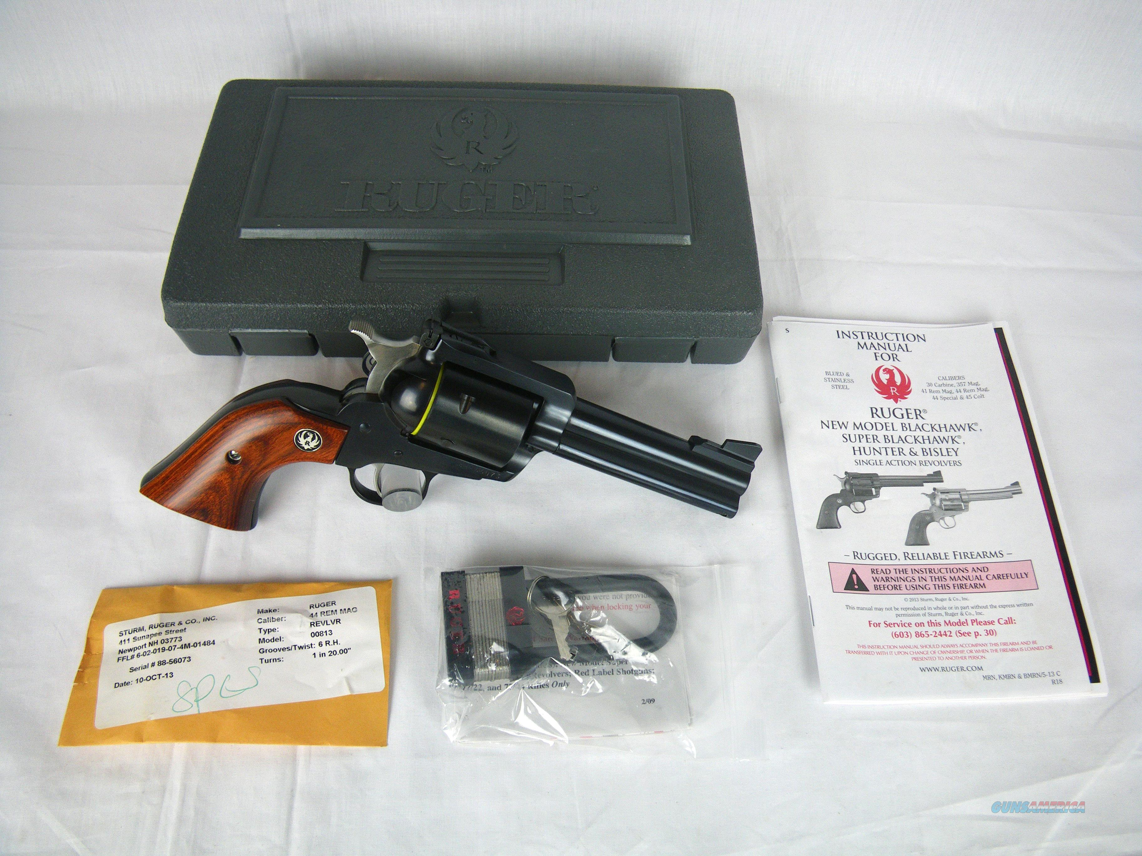 "Ruger Super Blackhawk New Model 44 Mag 4.62"" NEW #00813  Guns > Pistols > Ruger Single Action Revolvers > Blackhawk Type"