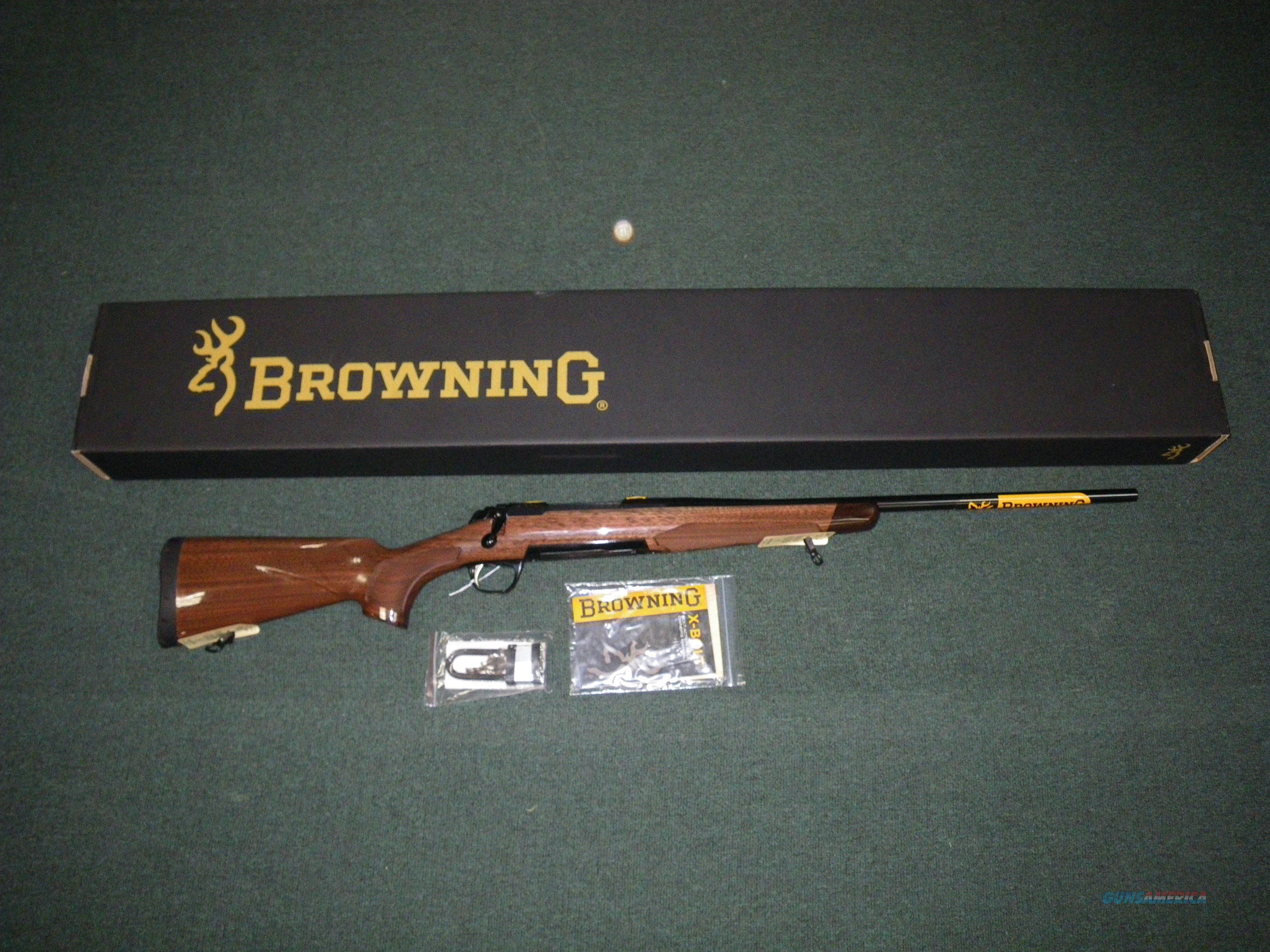 "Browning X-Bolt Medallion 6.5 Creedmoor 22"" NIB #035200282  Guns > Rifles > Browning Rifles > Bolt Action > Hunting > Blue"