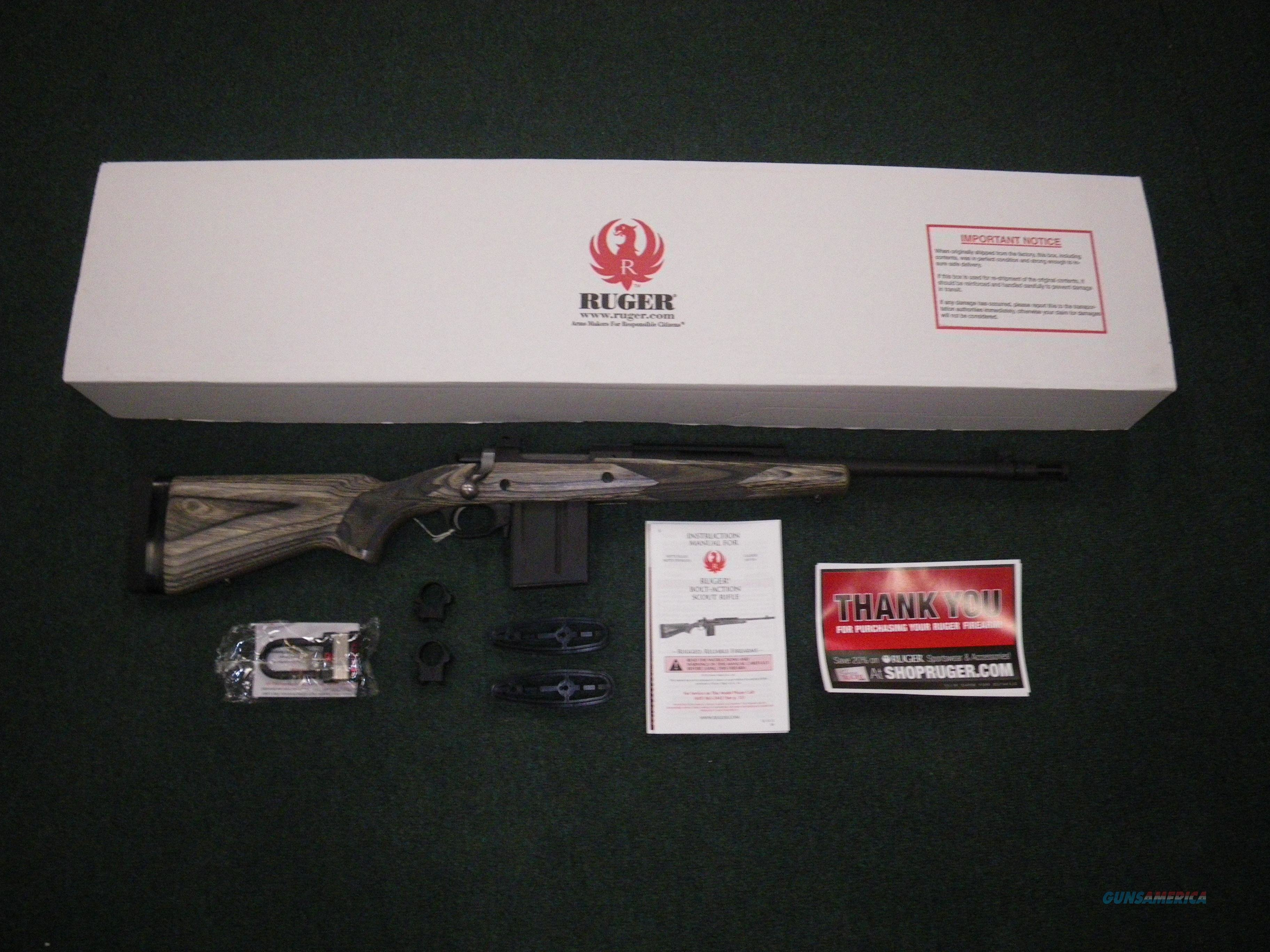 "Ruger Gunsite Scout 308 Win 16"" Alloy/Laminate #6803  Guns > Rifles > Ruger Rifles > Model 77"