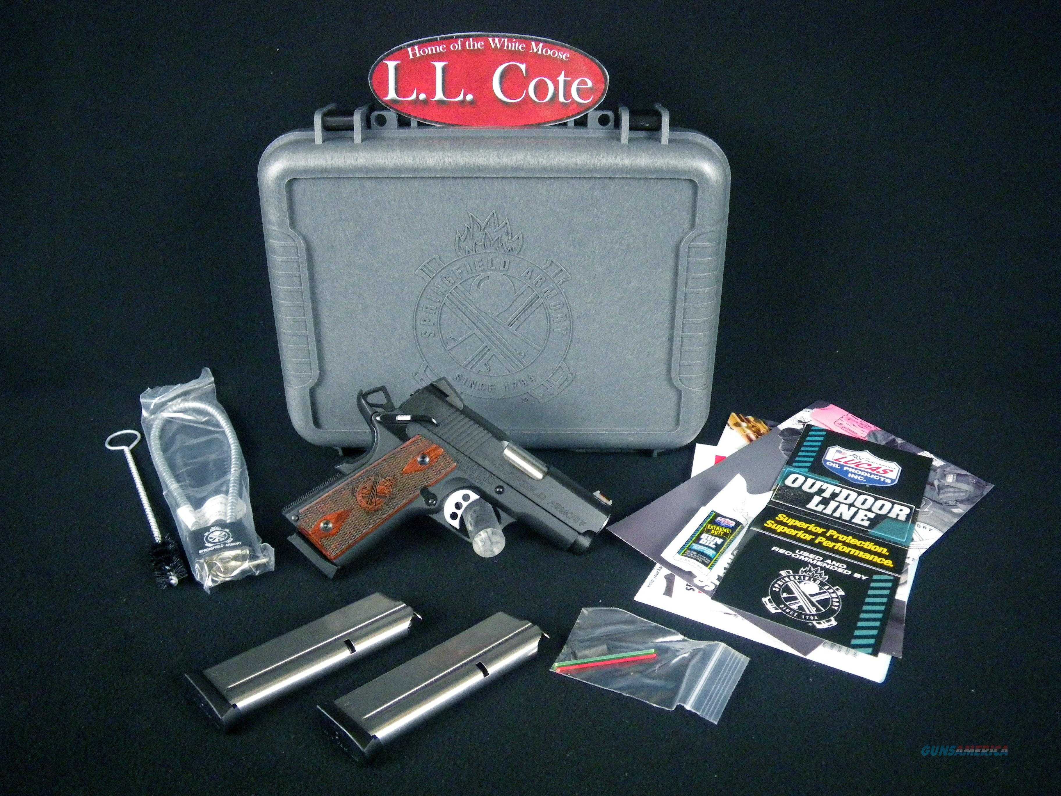 "Springfield 1911 EMP Wood/Blue 9mm 3"" NEW PI9208L  Guns > Pistols > Springfield Armory Pistols > 1911 Type"