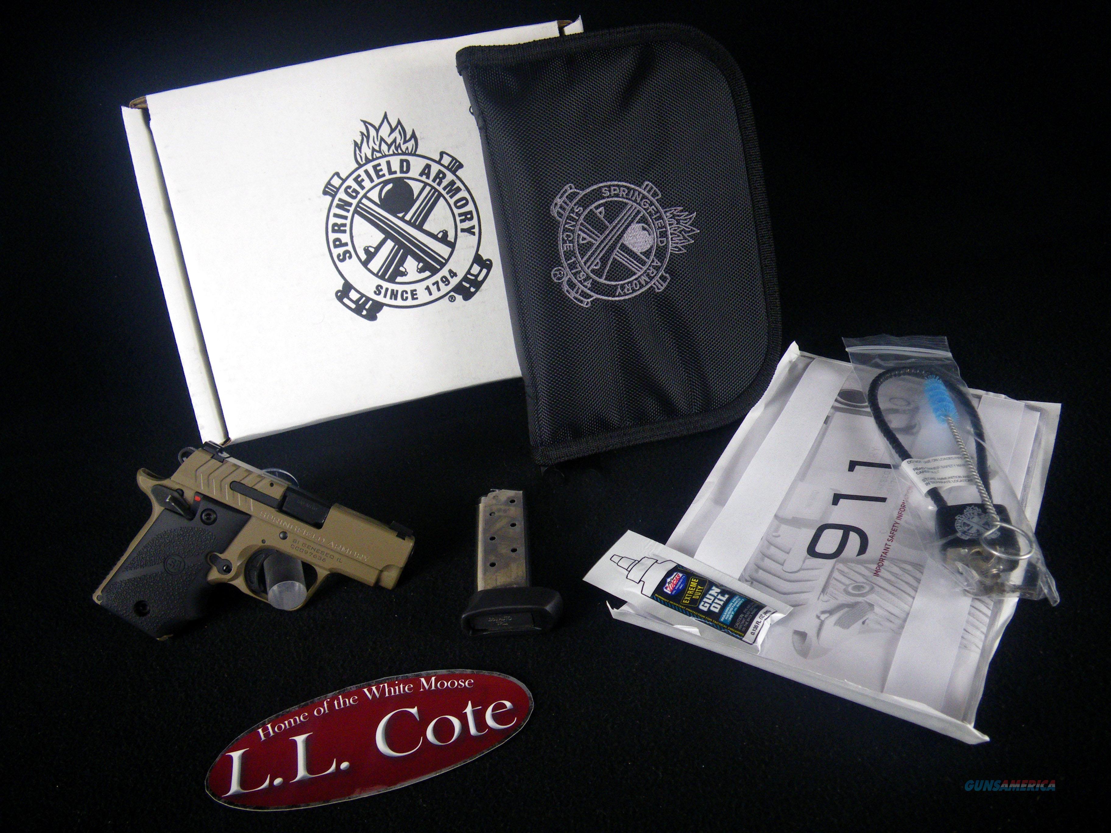 "Springfield 911 380ACP 2.7"" Desert FDE NEW PG9109F  Guns > Pistols > Springfield Armory Pistols > 911"