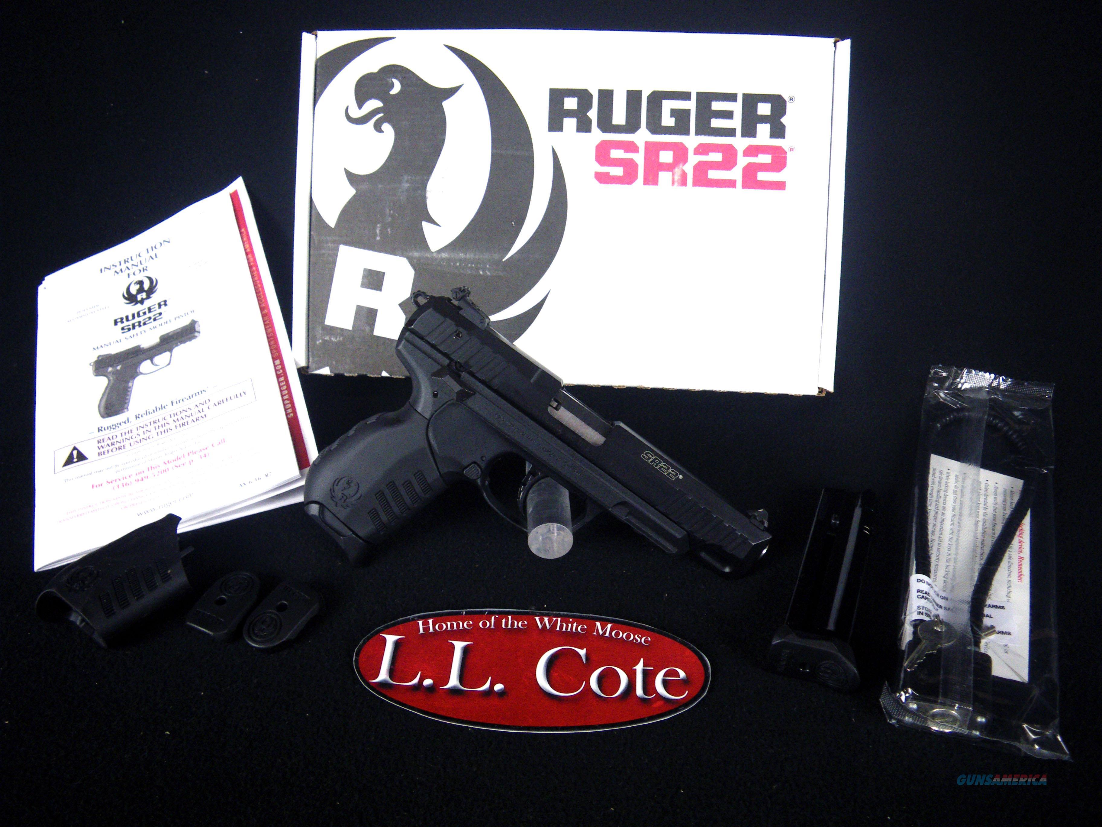 "Ruger SR22 Black/Synthetic 22lr 4.5"" NEW 3620  Guns > Pistols > Ruger Semi-Auto Pistols > SR Family > SR22"