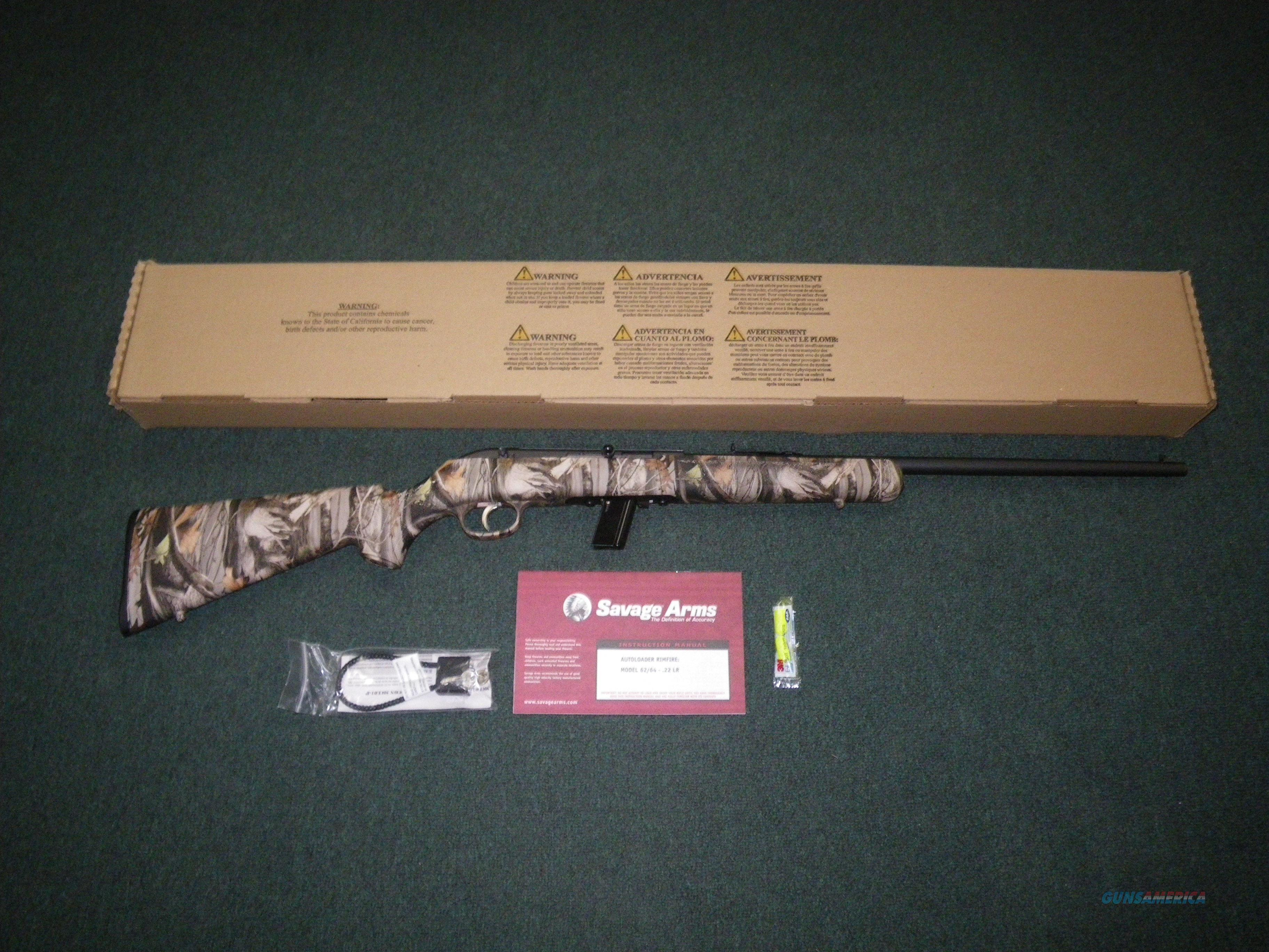 "Savage Model 64F Camo 22lr 20.5"" NEW Semi 40002  Guns > Rifles > Savage Rifles > Standard Bolt Action > Sporting"