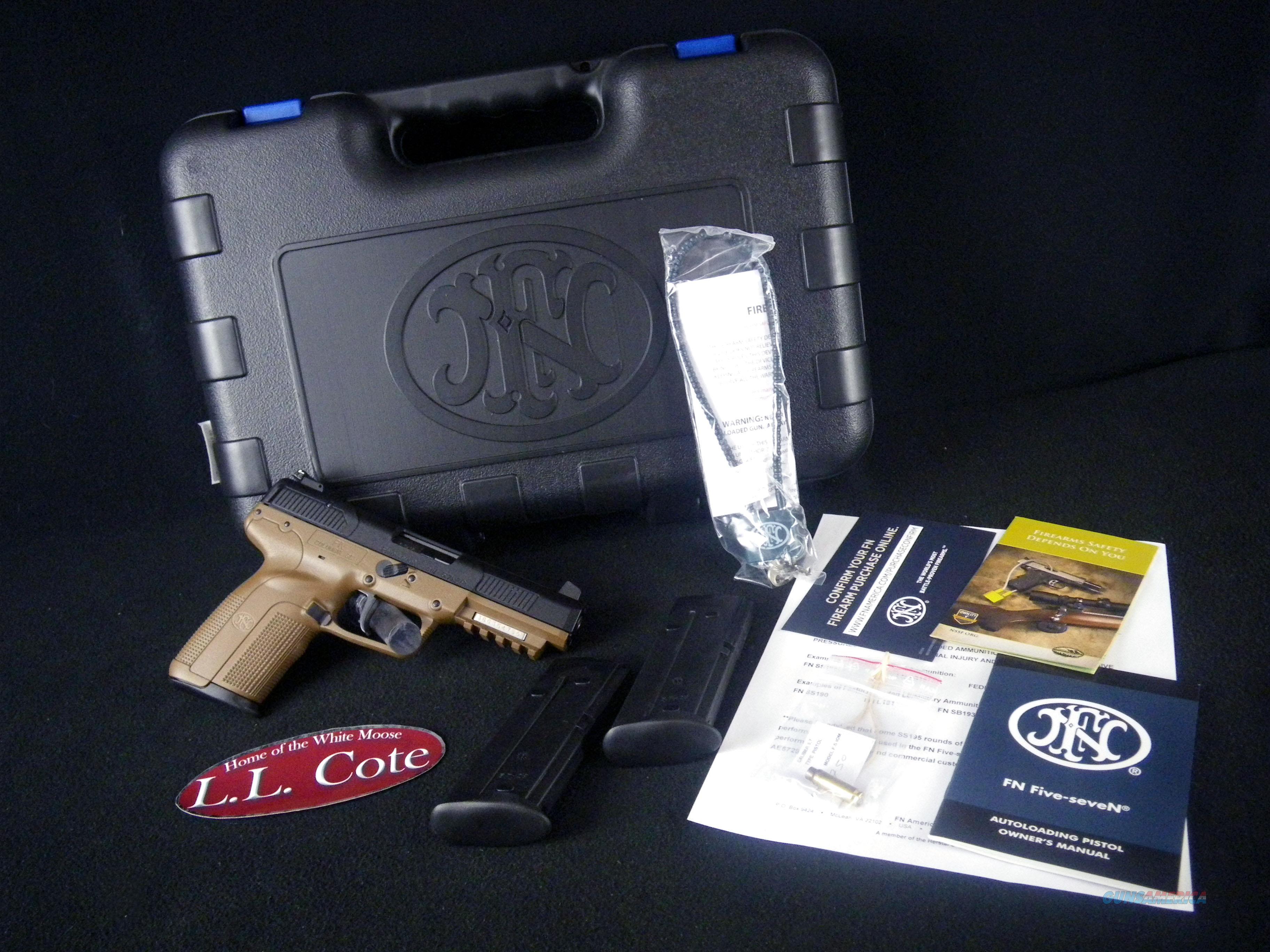"FNH Five-Seven FDE 5.7x28 4.8"" NEW 3868929350  Guns > Pistols > FNH - Fabrique Nationale (FN) Pistols > FiveSeven"