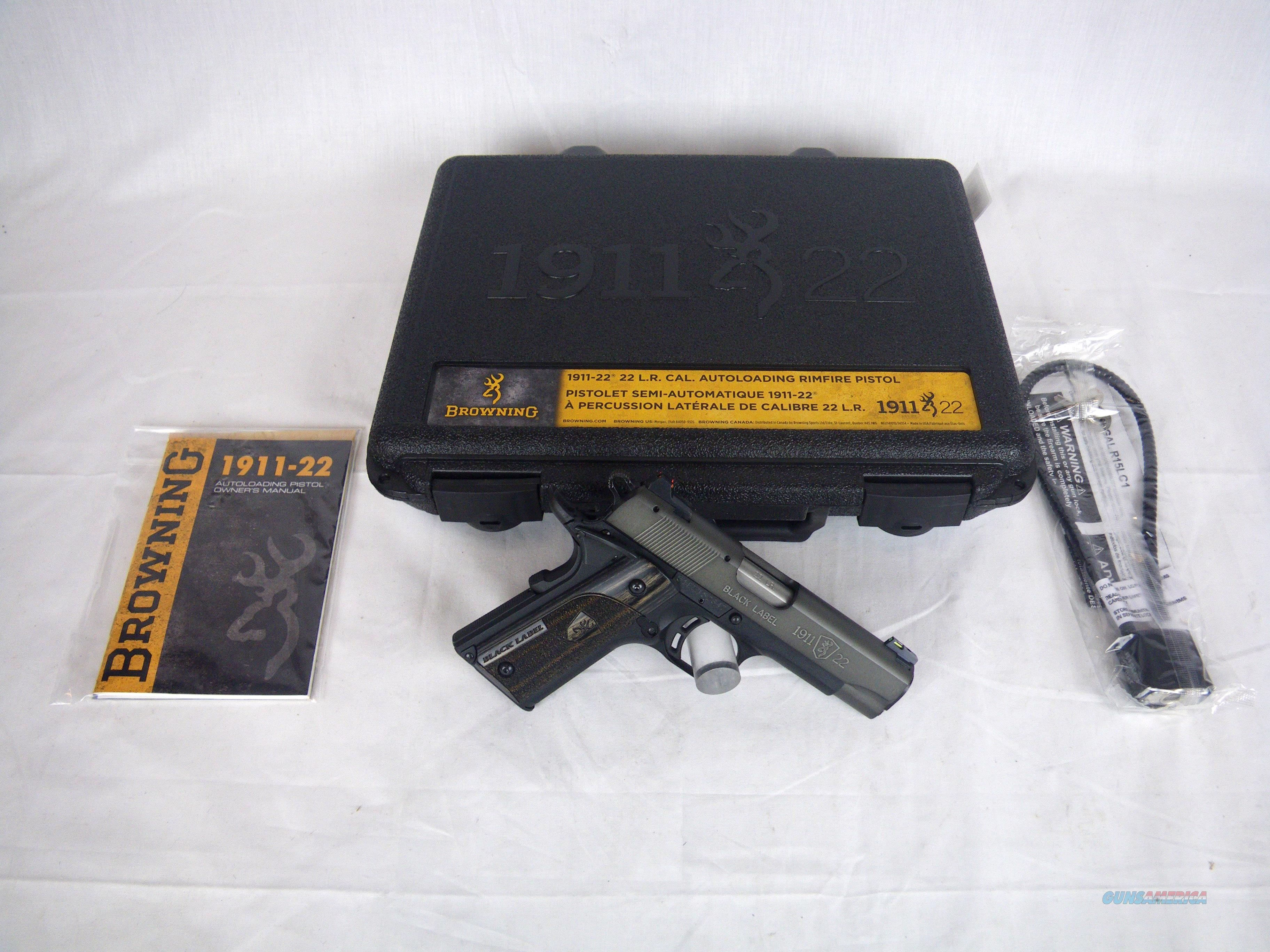 Browning 1911-22 Black Label Gray Compact 22lr NEW #051849490  Guns > Pistols > Browning Pistols > Other Autos
