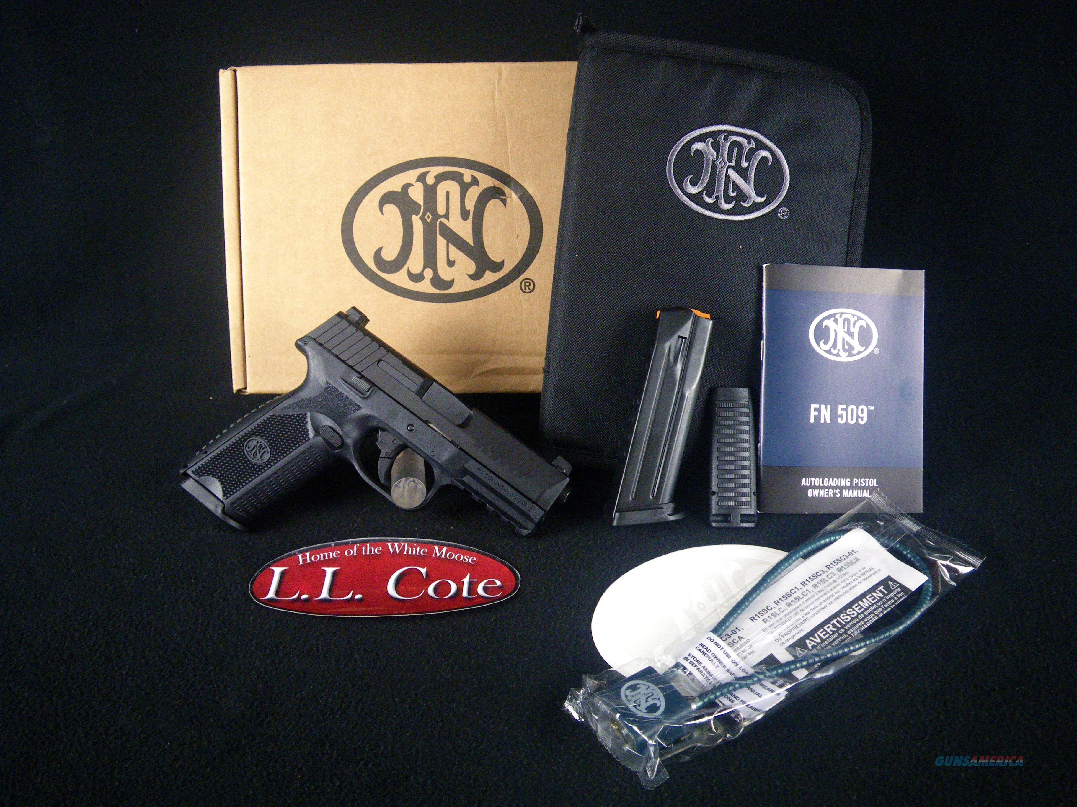 "FN 509 Polymer 9mm 4"" 3-Dot Sights NEW 66-100002  Guns > Pistols > FNH - Fabrique Nationale (FN) Pistols > FN 509"