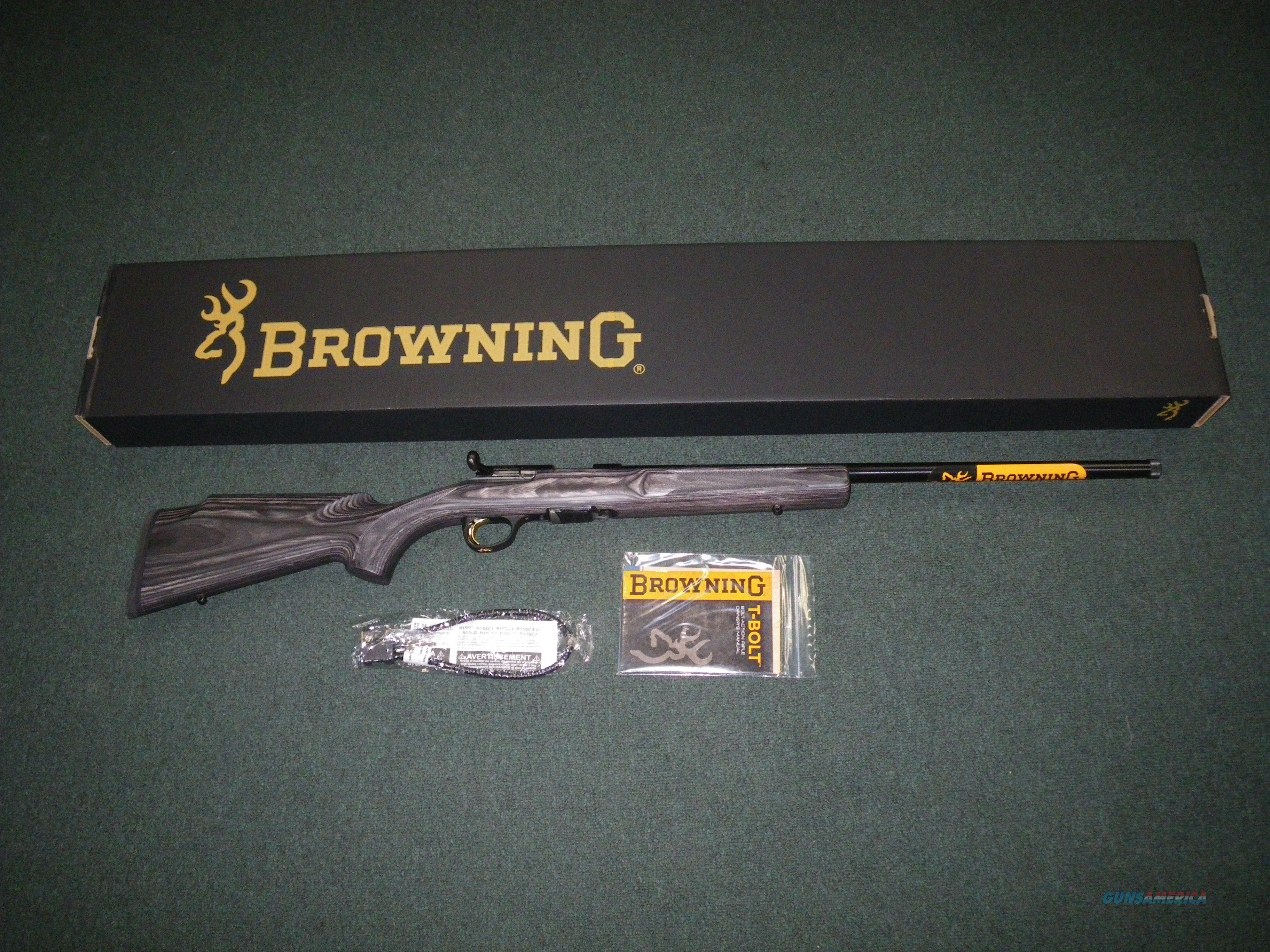 "Browning T-Bolt Varmint Threaded 22mag 22"" NEW #025231204  Guns > Rifles > Browning Rifles > Bolt Action > Hunting > Blue"