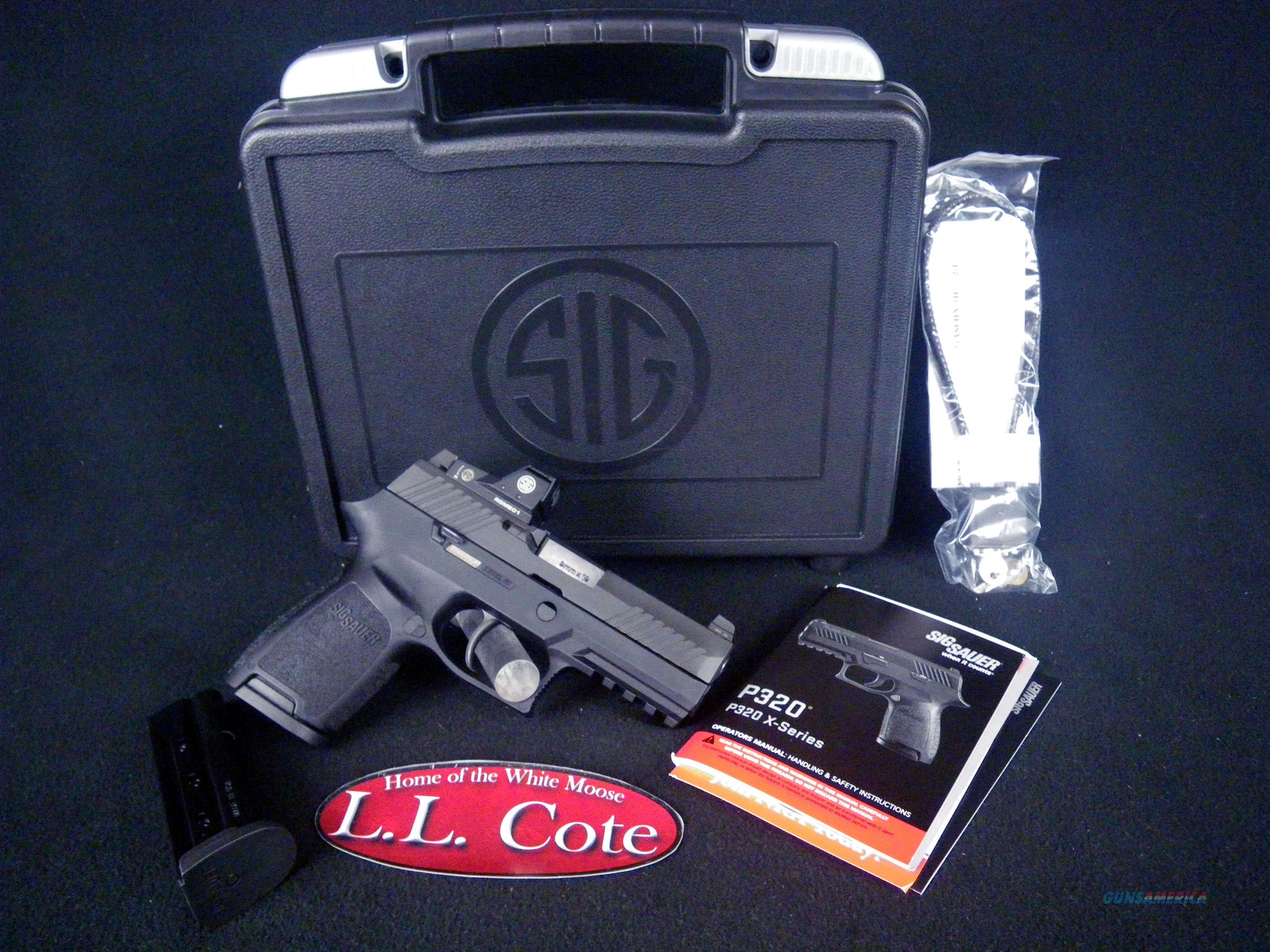 "Sig Sauer P320 RX Compact Romeo1 Reflex 9mm 3.9"" NEW 320C-9-BSS-RX  Guns > Pistols > Sig - Sauer/Sigarms Pistols > P320"