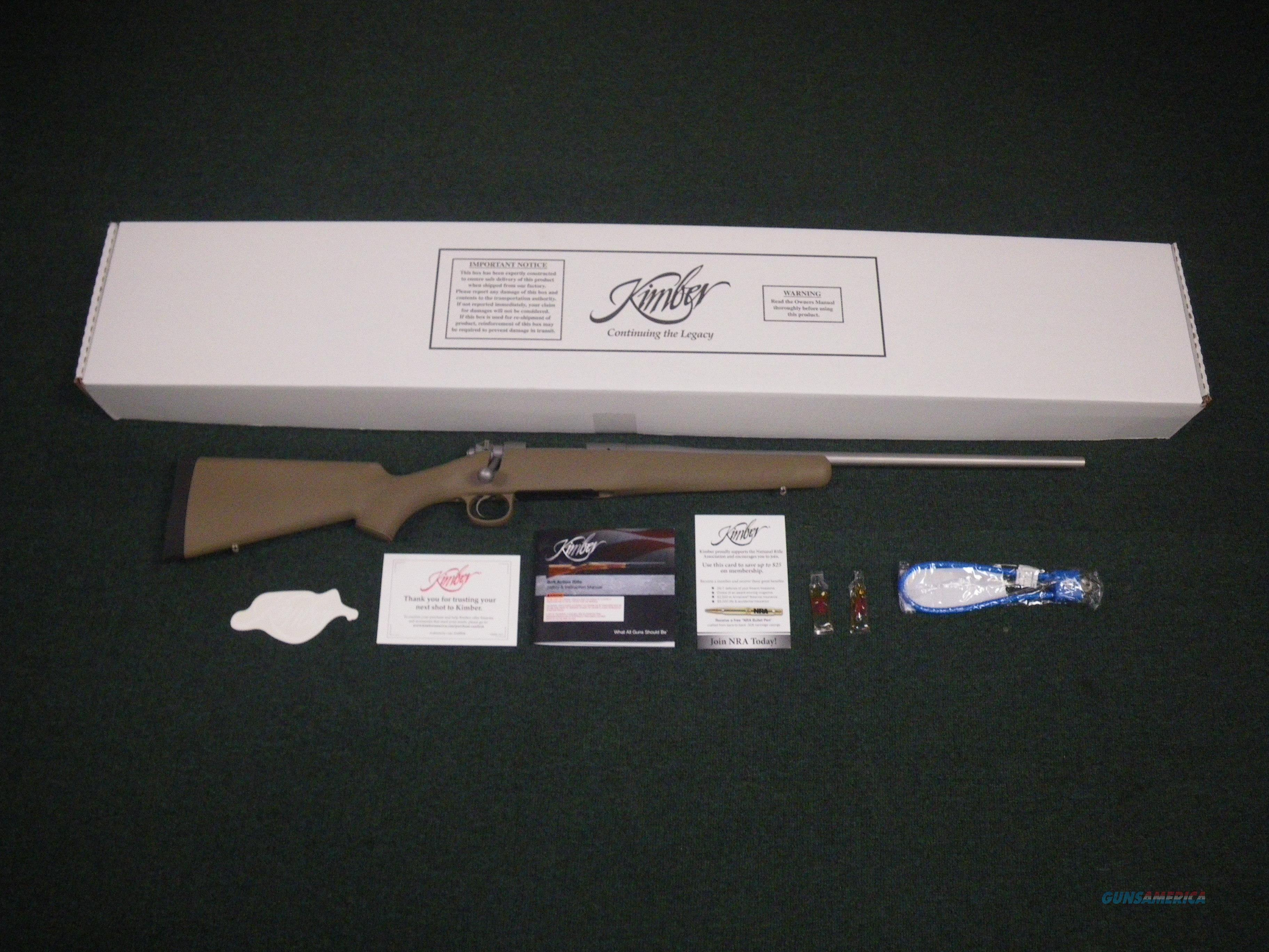 "Kimber Hunter Stainless/Synthetic 308 Win 22"" NEW 3000789  Guns > Rifles > Kimber of America Rifles"
