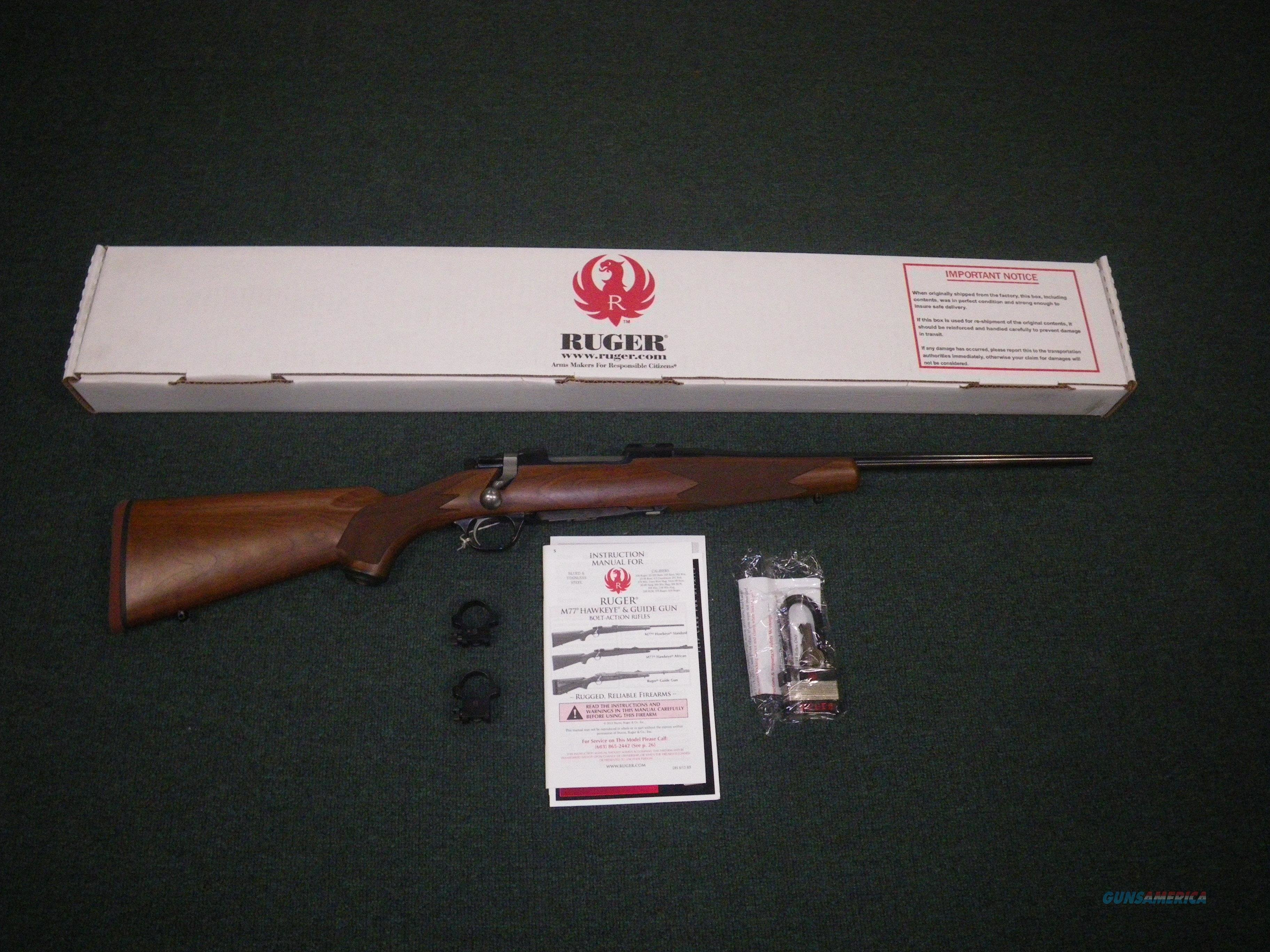 "Ruger M77 Hawkeye Compact Blue/Wood 308 Win 16.5"" #37139  Guns > Rifles > Ruger Rifles > Model 77"