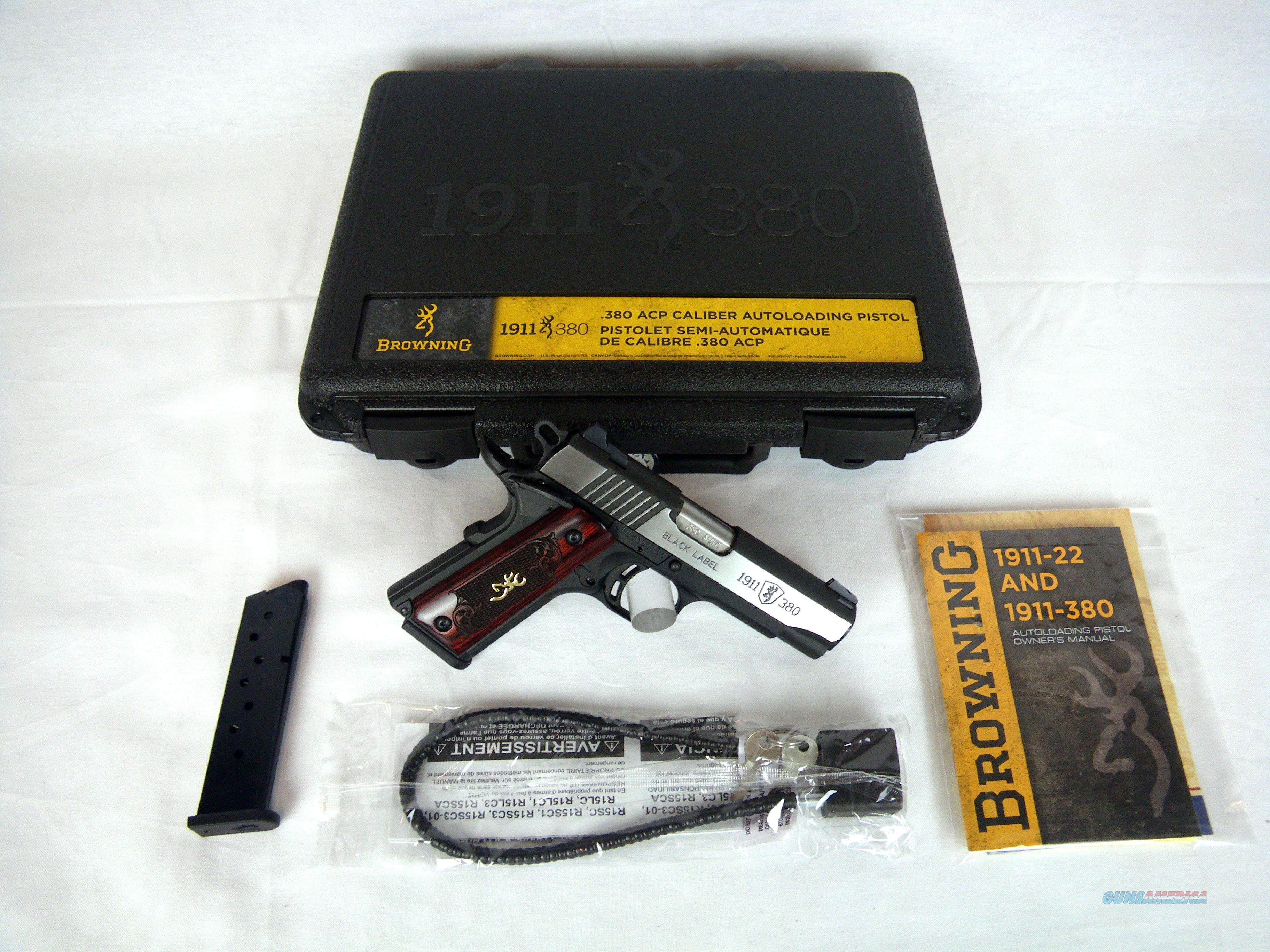 "Browning 1911-380 Medallion Pro 380ACP 3-5/8"" NEW #051915492  Guns > Pistols > Browning Pistols > Other Autos"