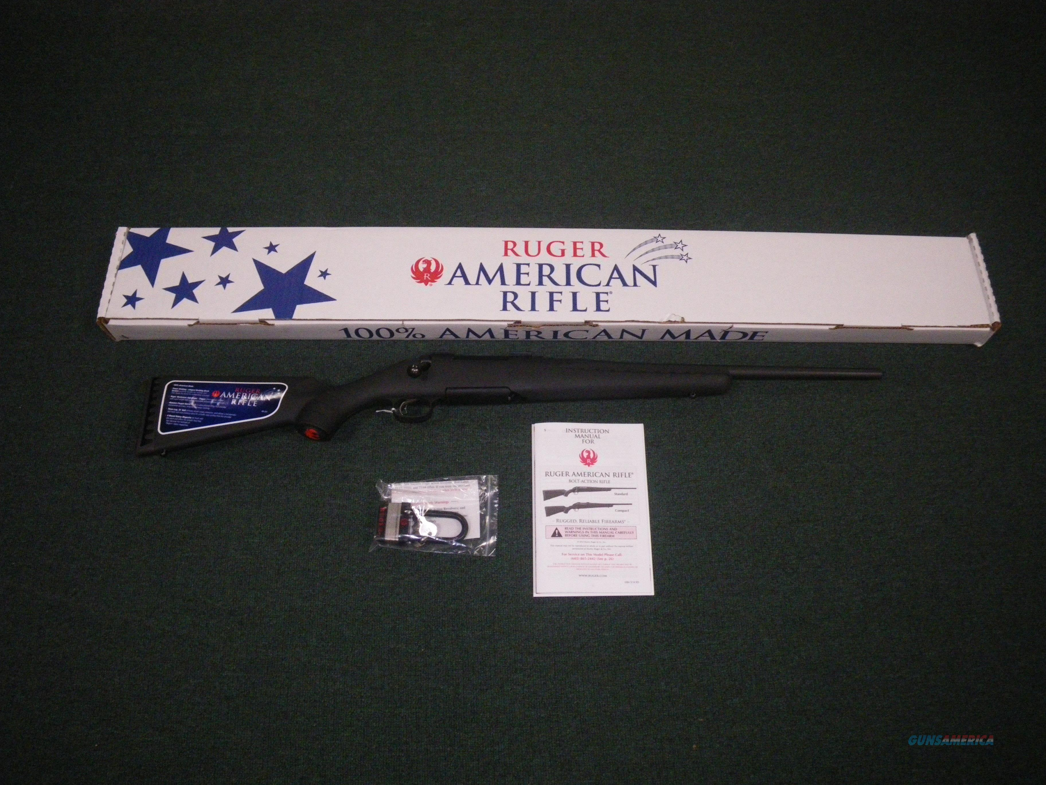 """Ruger American Compact Matte Black Syn 243 Win 18"""" #6908  Guns > Rifles > Ruger Rifles > American Rifle"""