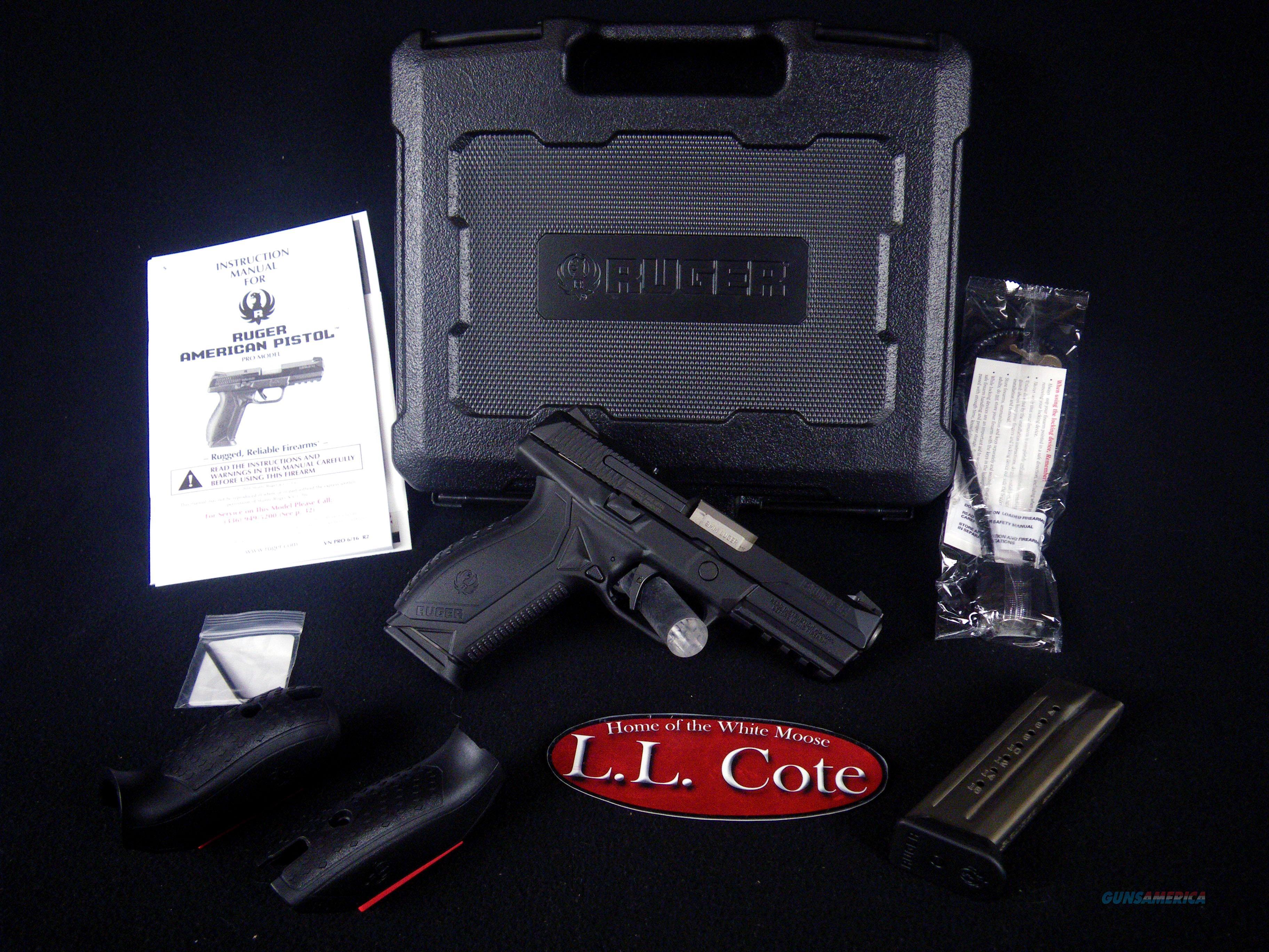 "Ruger American Pistol 9mm 4.2"" Black/Syn NEW 8605  Guns > Pistols > Ruger Semi-Auto Pistols > American Pistol"