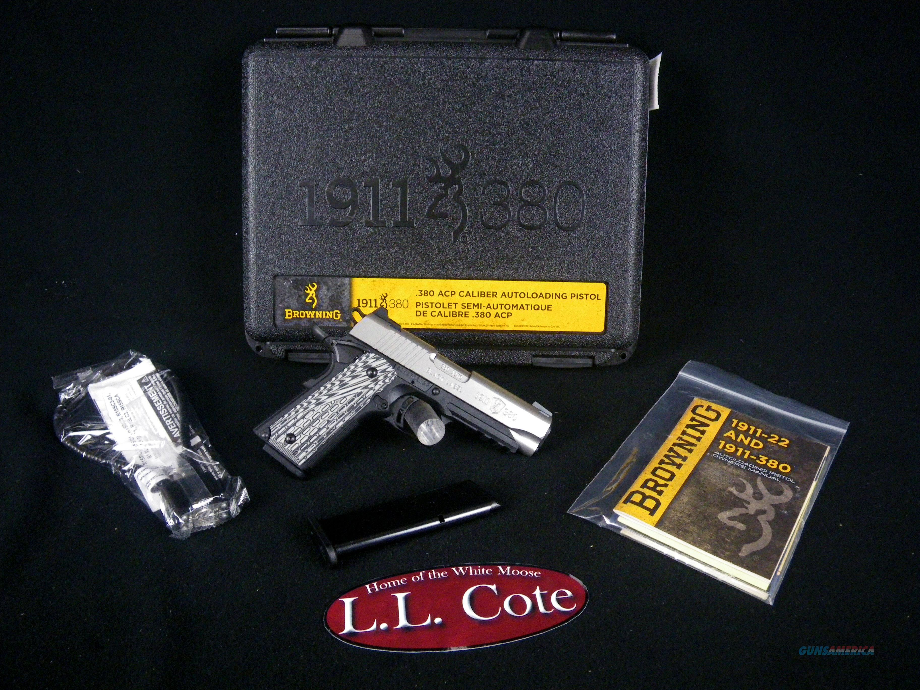 """Browning 1911-380 Black Label Pro 380ACP 3-5/8"""" NEW 051929492  Guns > Pistols > Browning Pistols > Other Autos"""