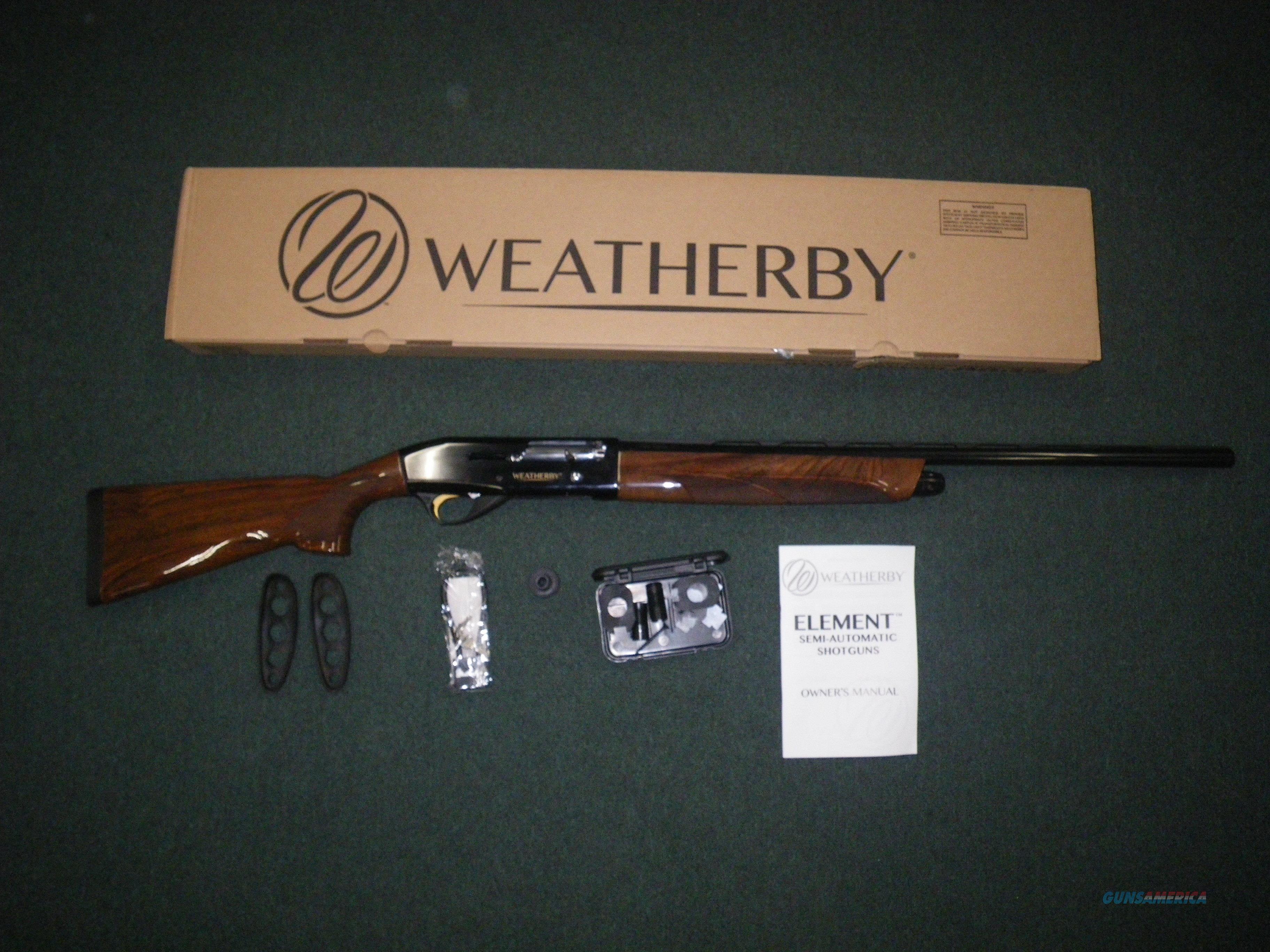 "Weatherby Element Deluxe 12ga 26"" Barrel 3"" Chamber EDX1226PGG  Guns > Shotguns > Weatherby Shotguns > Hunting > Autoloader"