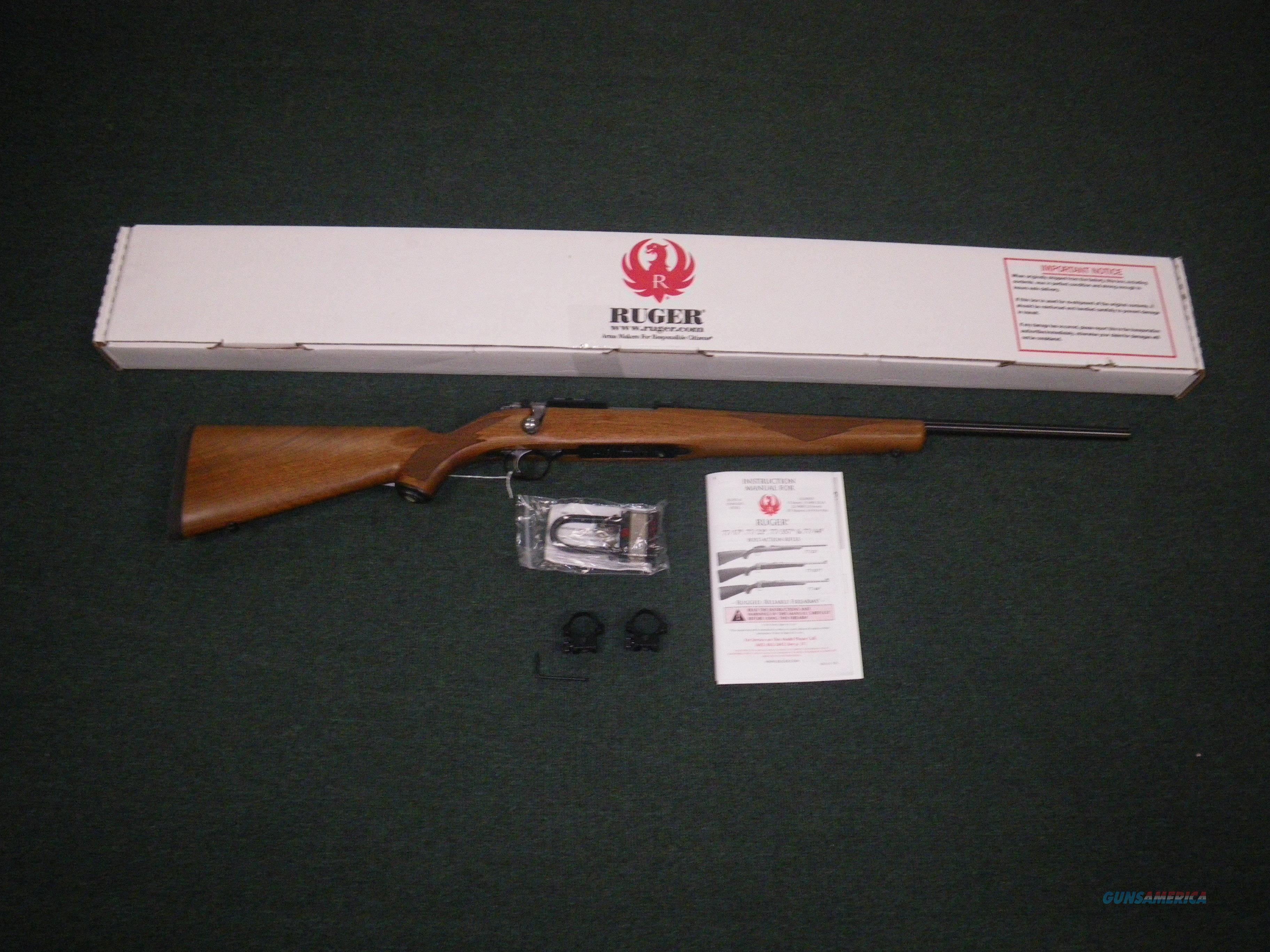 """Ruger 77/22 Model 77 Wood/Blue 22 Hornet 20"""" NEW #7201  Guns > Rifles > Ruger Rifles > Model 77"""