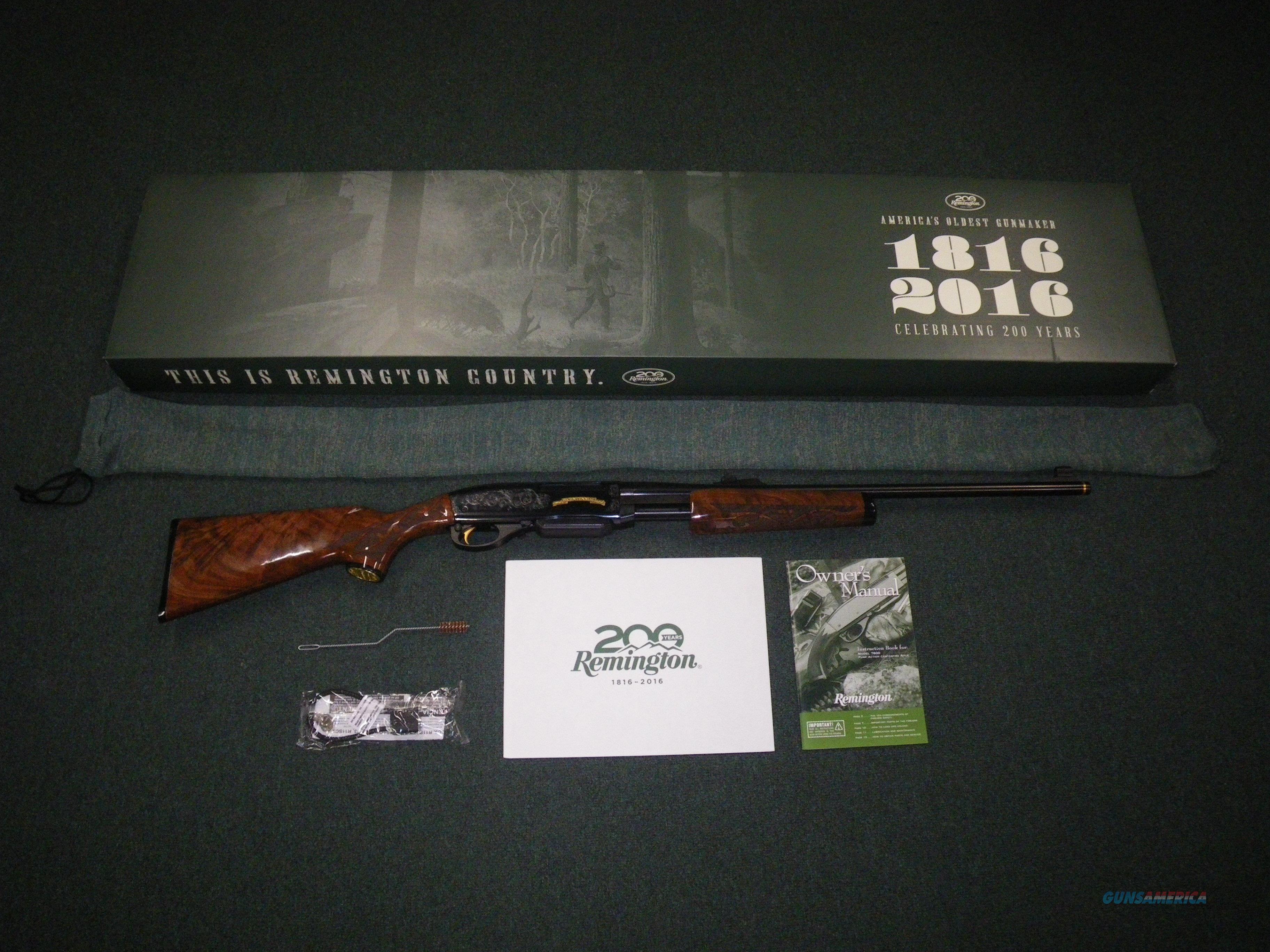 "Remington Model 7600 200th Anniv 30-06 22"" NEW #86276  Guns > Rifles > Remington Rifles - Modern > Other"