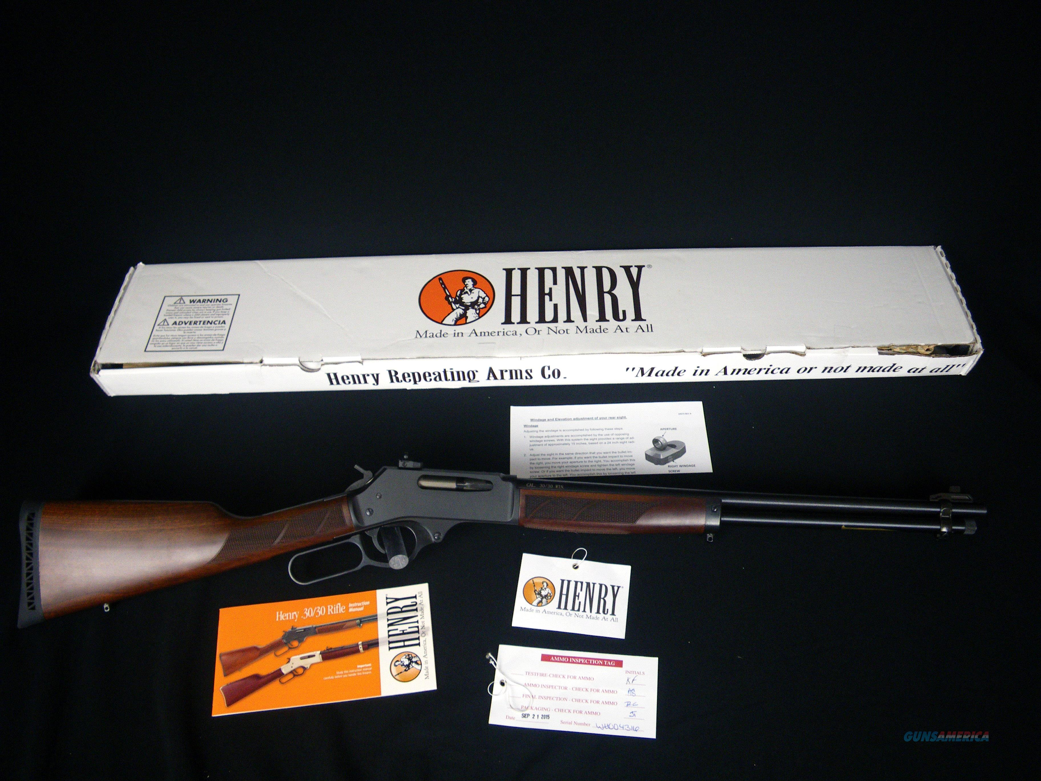 "Henry Lever Action Steel .30-30 20"" NEW H009  Guns > Rifles > Henry Rifle Company"