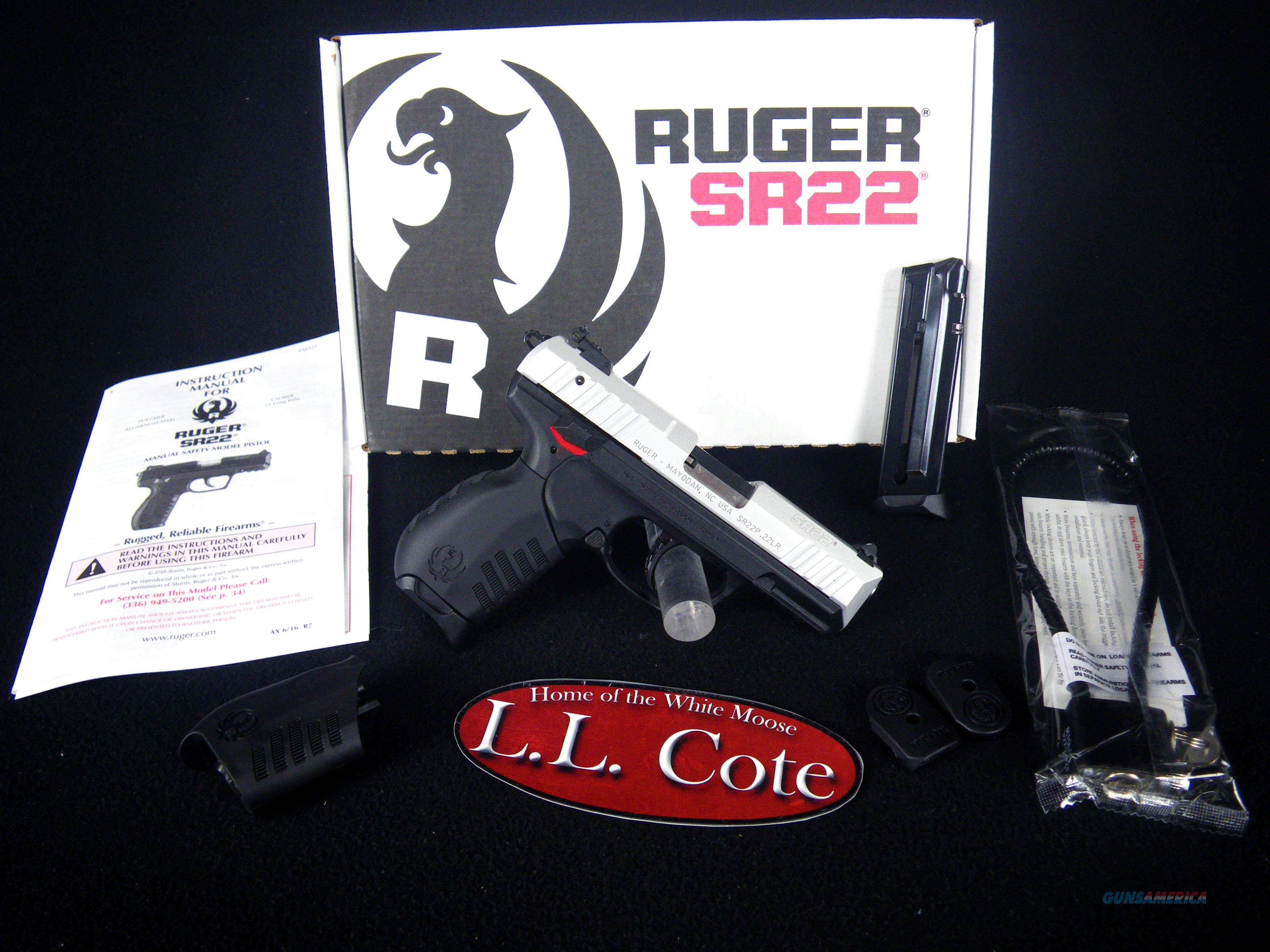 "Ruger SR22 Aluminum/Synthetic 22lr 3.5"" NEW 3607  Guns > Pistols > Ruger Semi-Auto Pistols > SR Family > SR22"