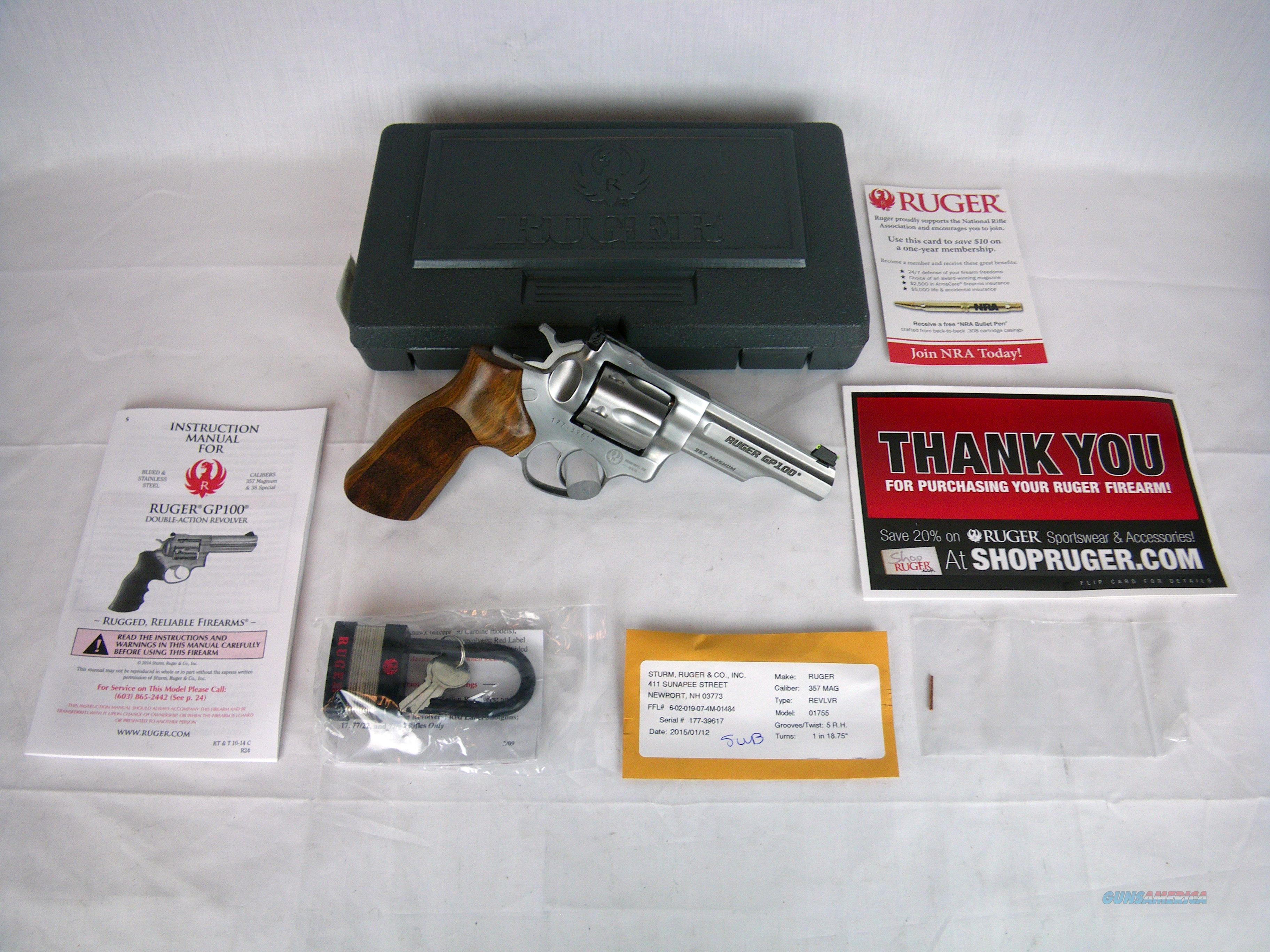 "Ruger GP100 Match Champion 357 Mag 4.2"" NEW #1755  Guns > Pistols > Ruger Double Action Revolver > GP100"