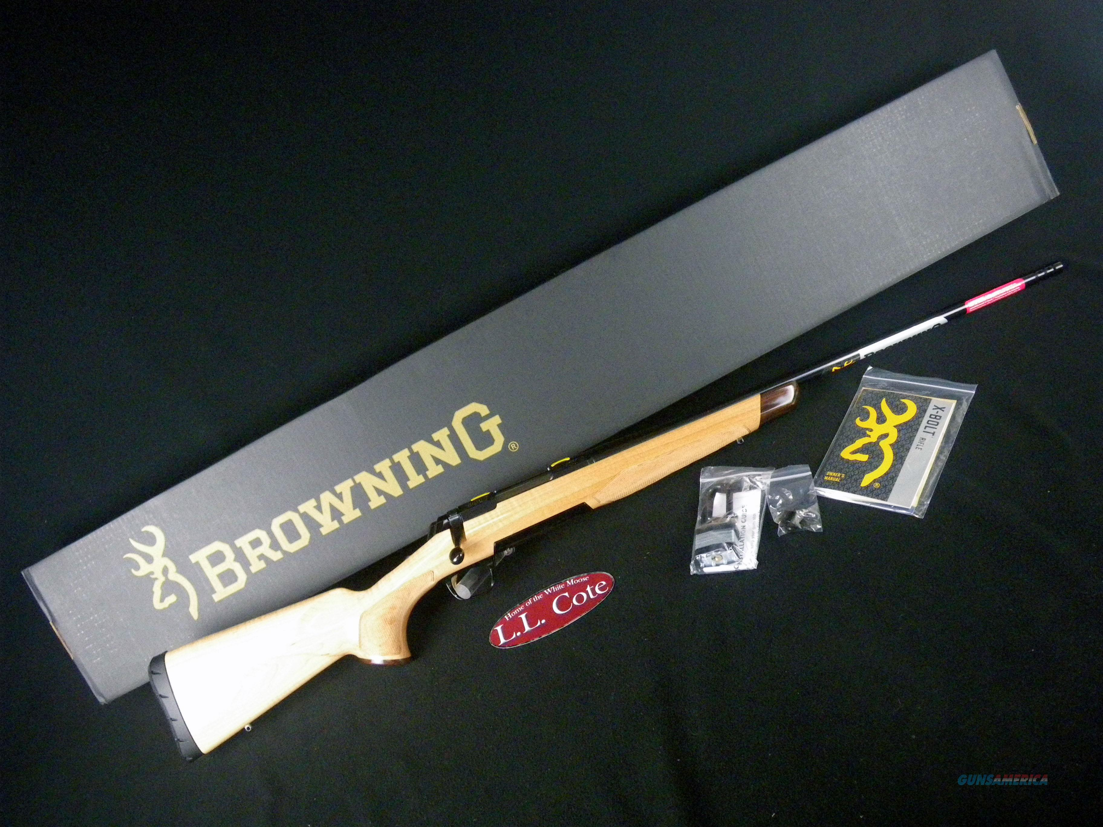 "Browning X-Bolt Medallion Maple 308 Win 22"" NEW 035448218  Guns > Rifles > Browning Rifles > Bolt Action > Hunting > Blue"